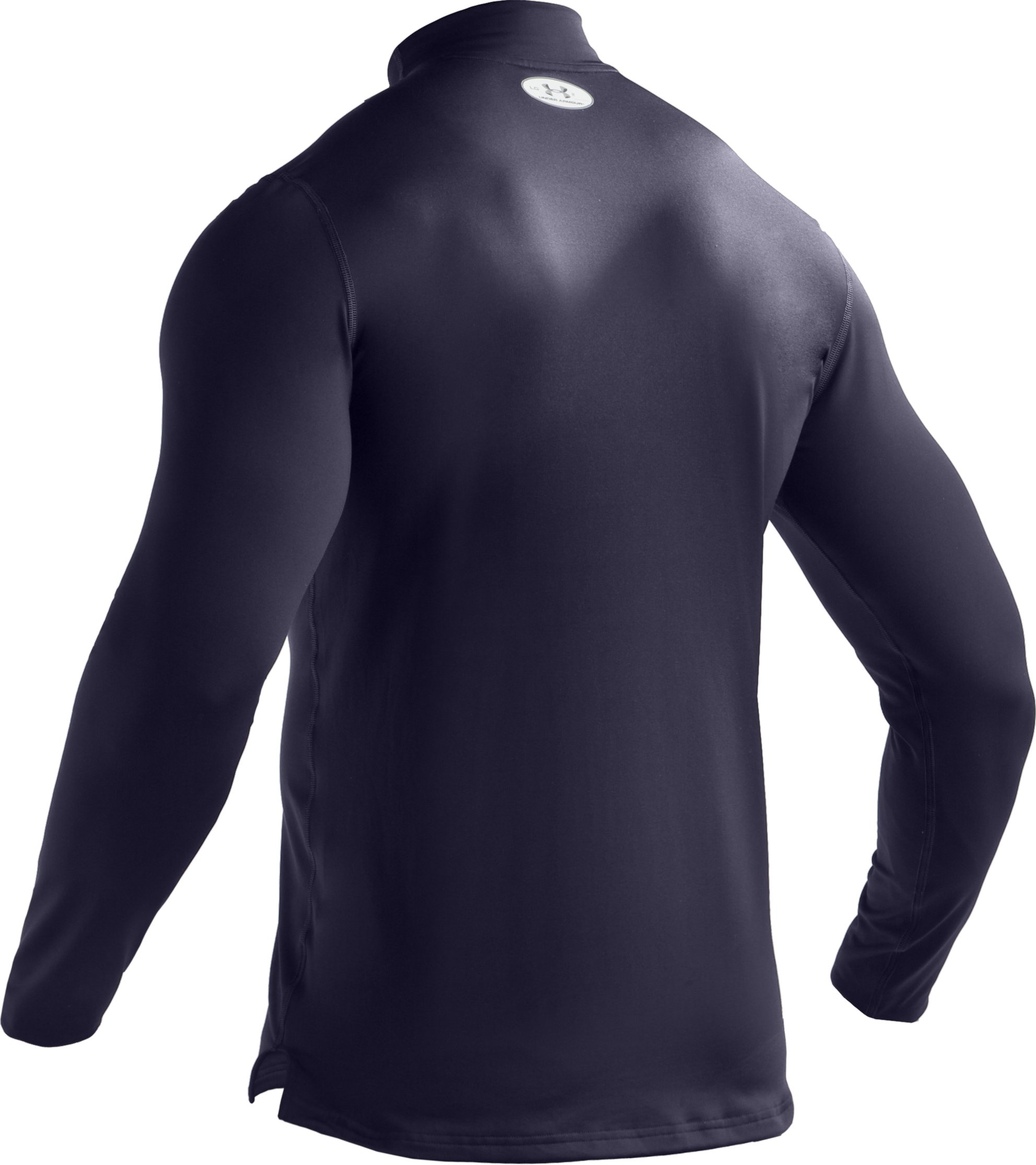 Men's ColdGear® Fitted Long Sleeve Mock, Midnight Navy