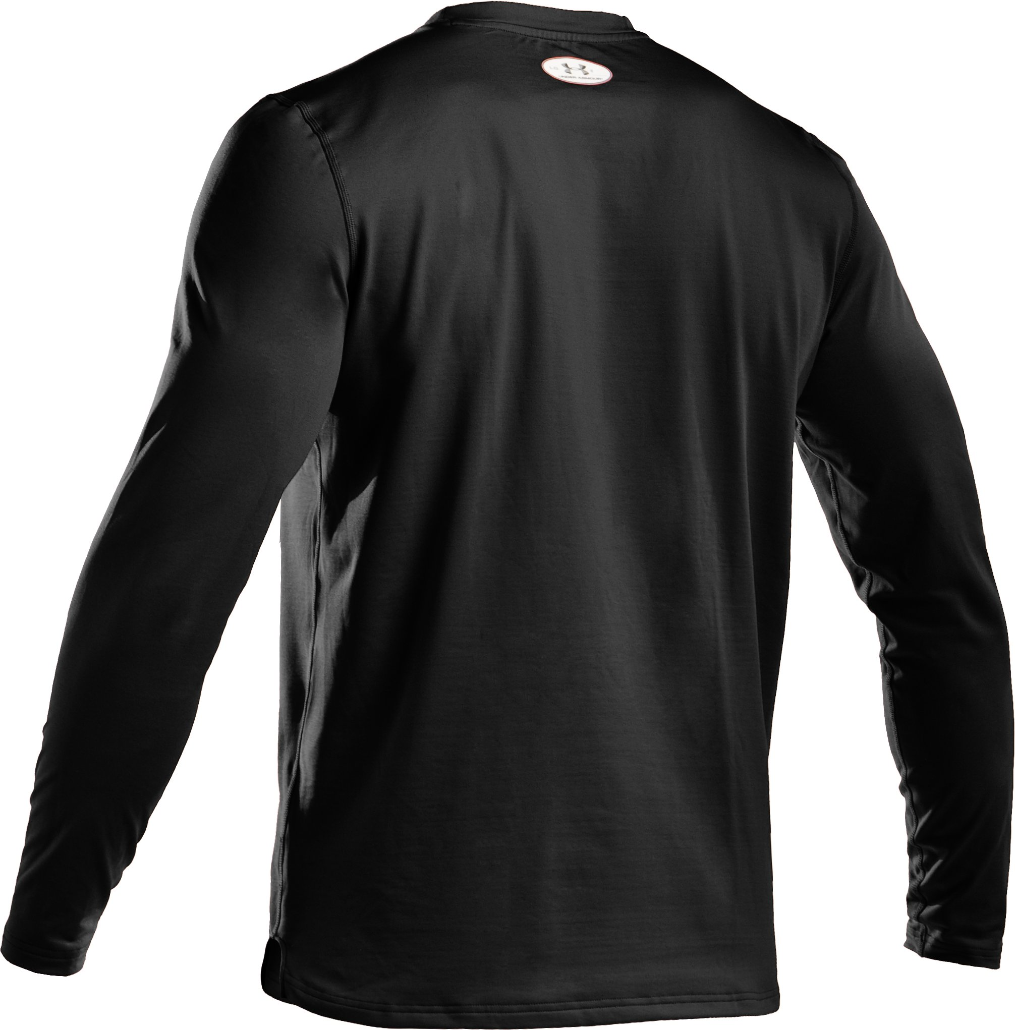 Men's ColdGear® Fitted Long Sleeve Crew, Black
