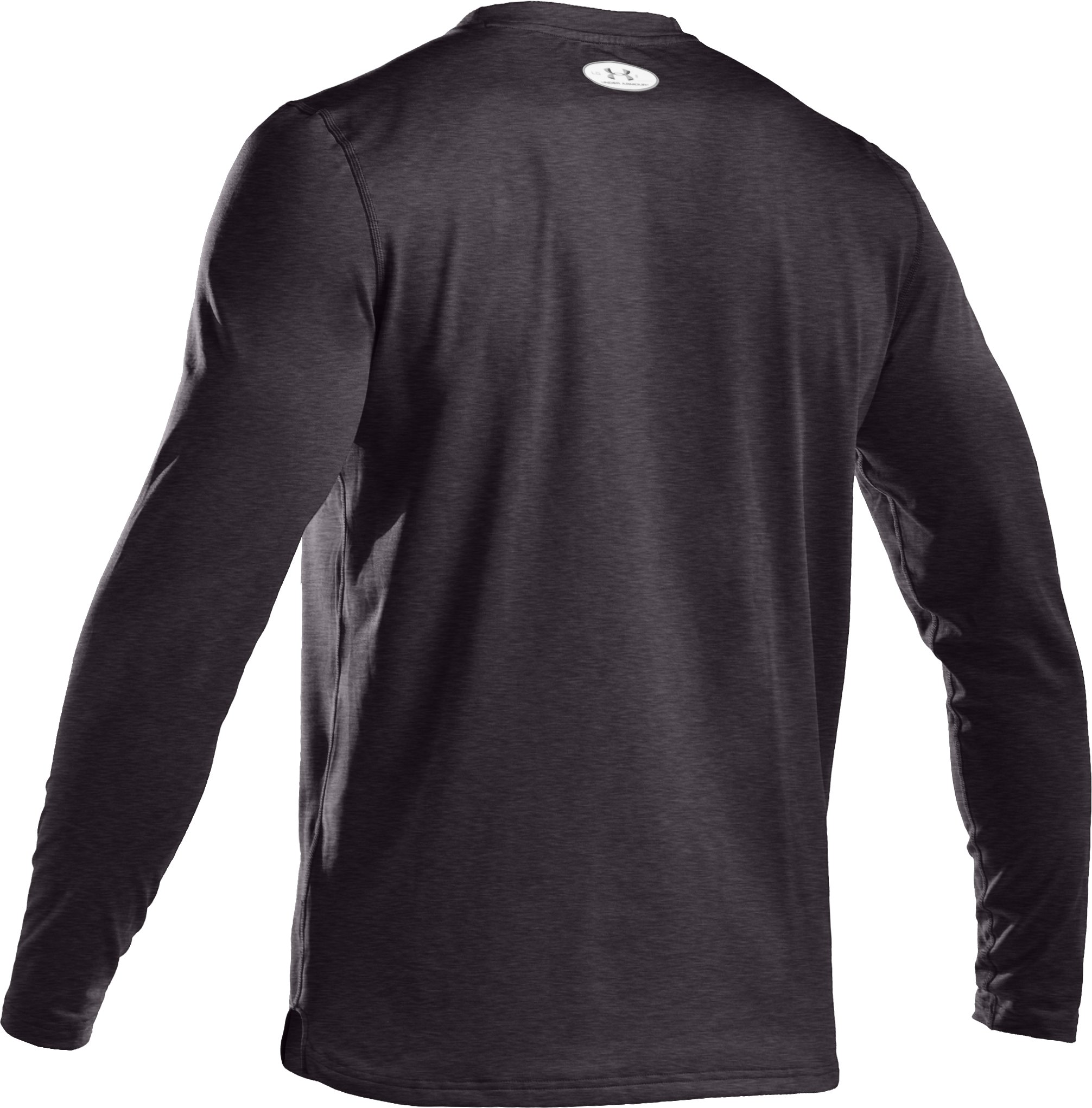 Men's ColdGear® Fitted Long Sleeve Crew, Carbon Heather