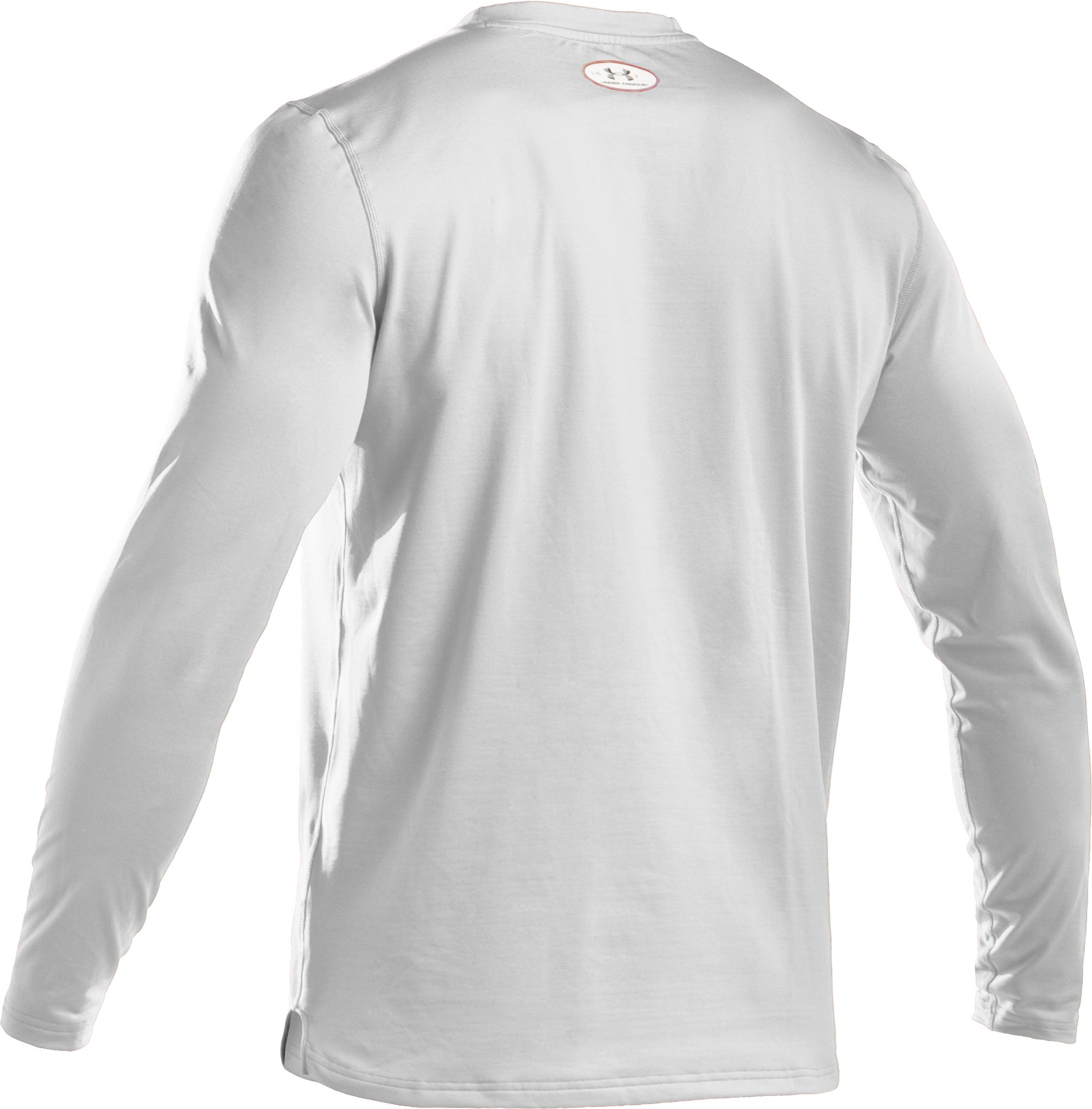 Men's ColdGear® Fitted Long Sleeve Crew, White,