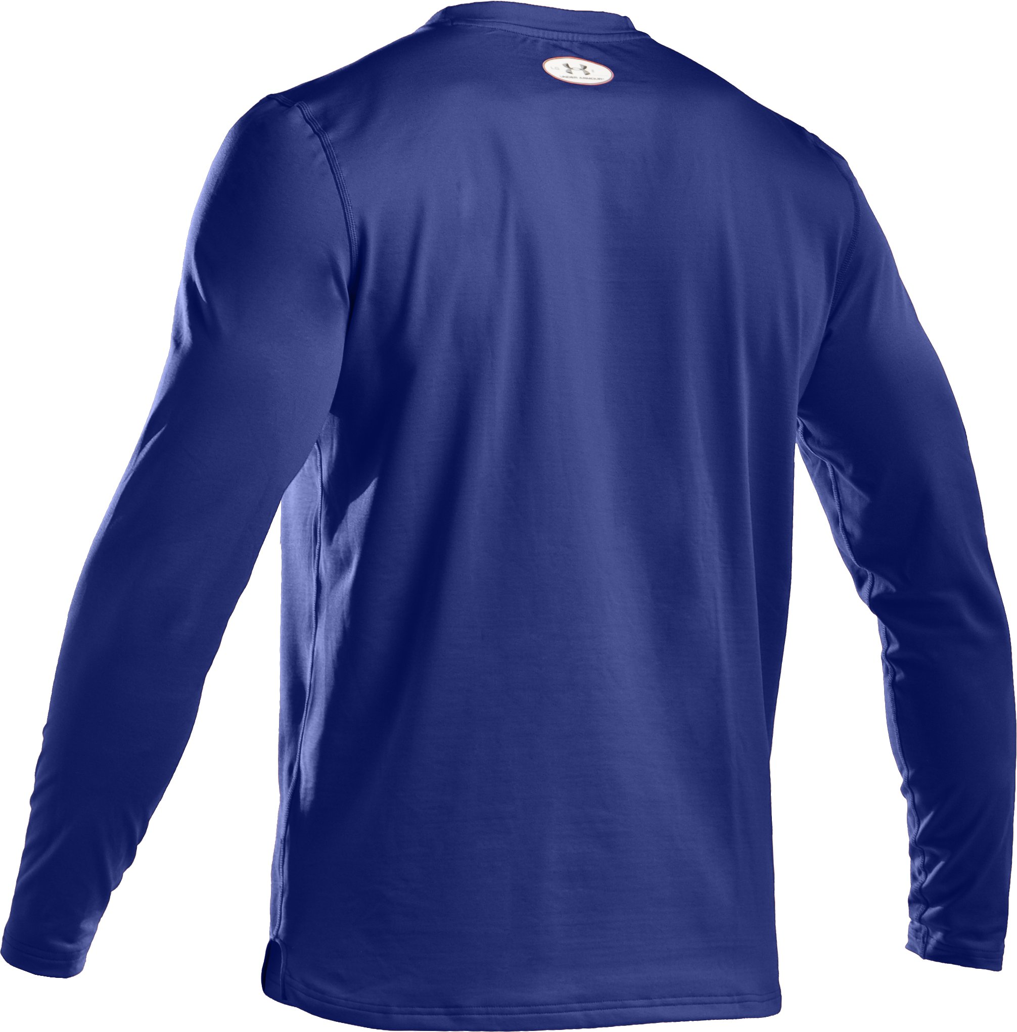 Men's ColdGear® Fitted Long Sleeve Crew, Royal, undefined