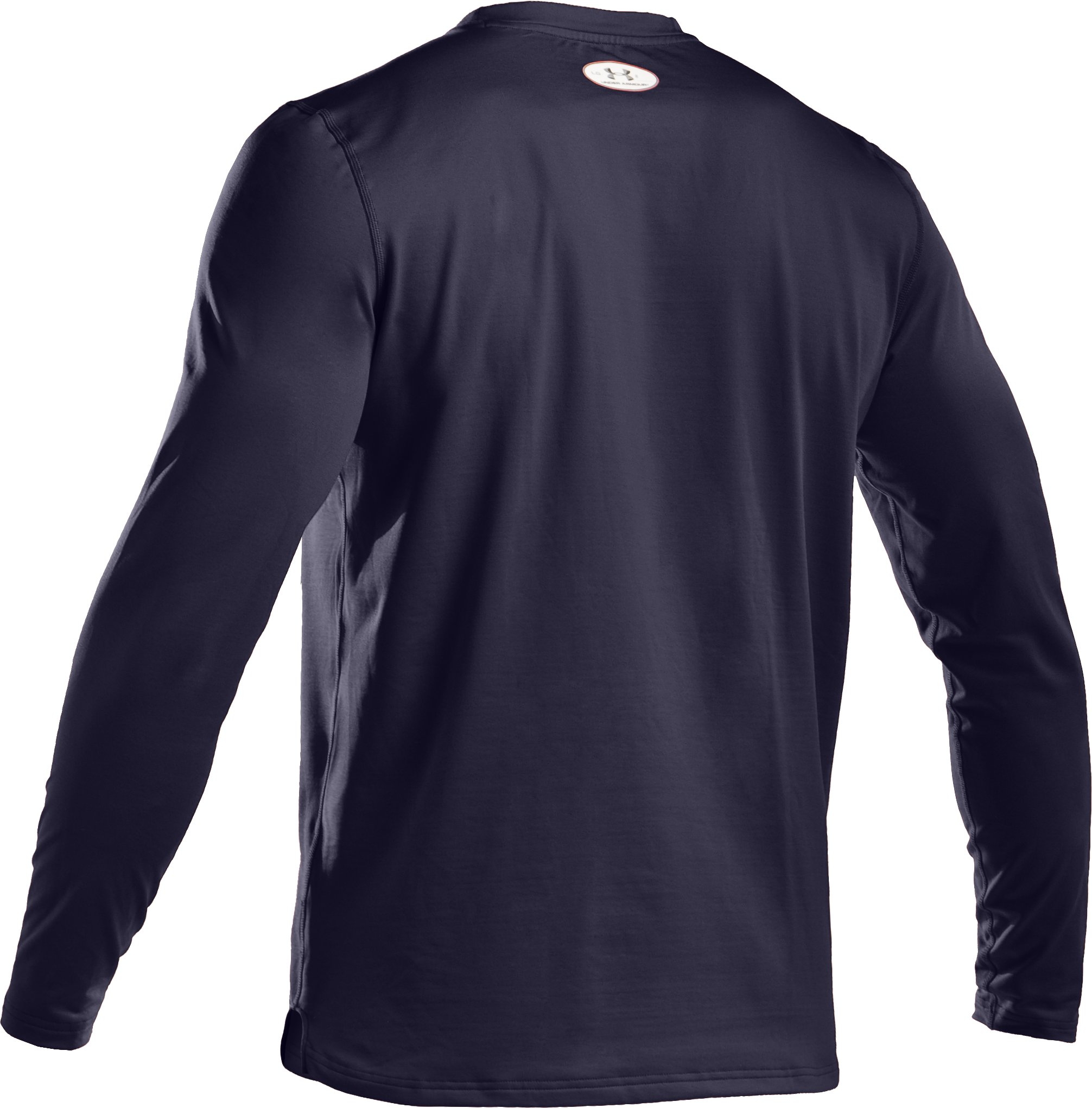 Men's ColdGear® Fitted Long Sleeve Crew, Midnight Navy,
