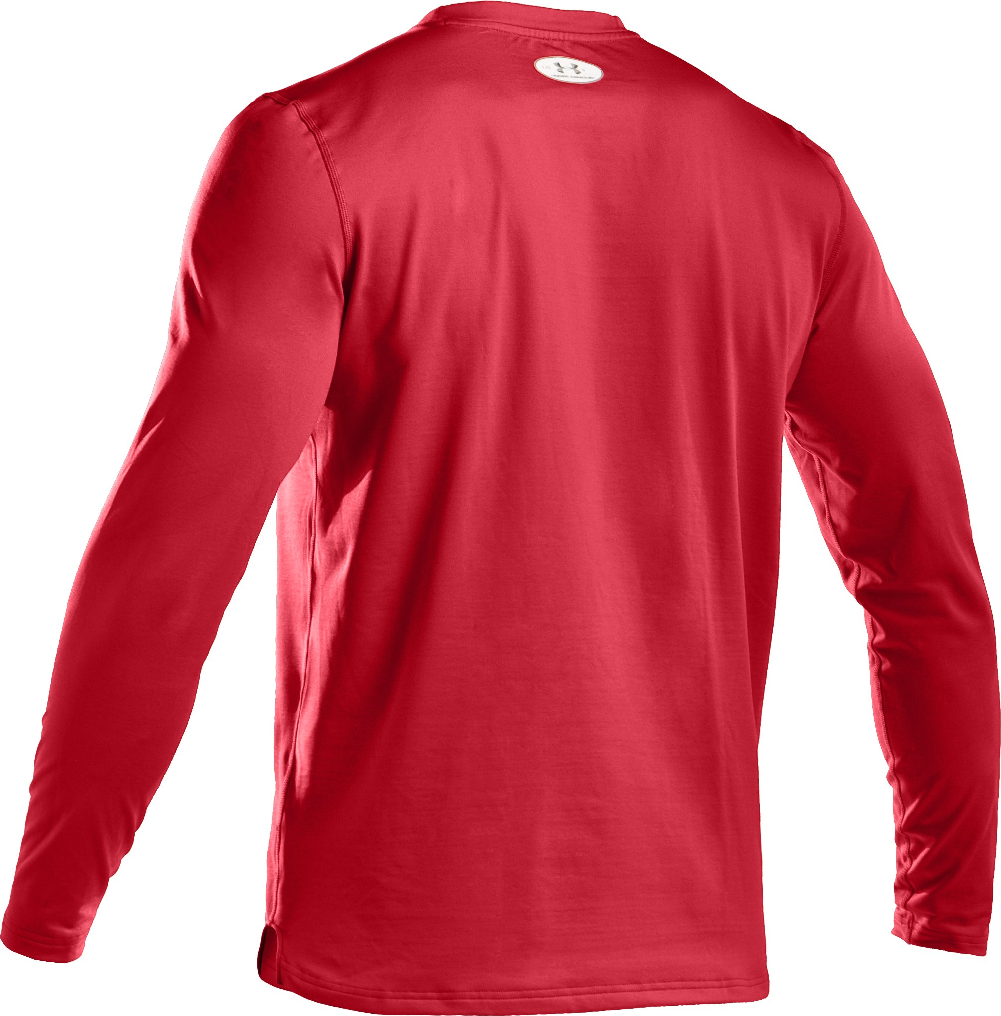 Men's ColdGear® Fitted Long Sleeve Crew, Red