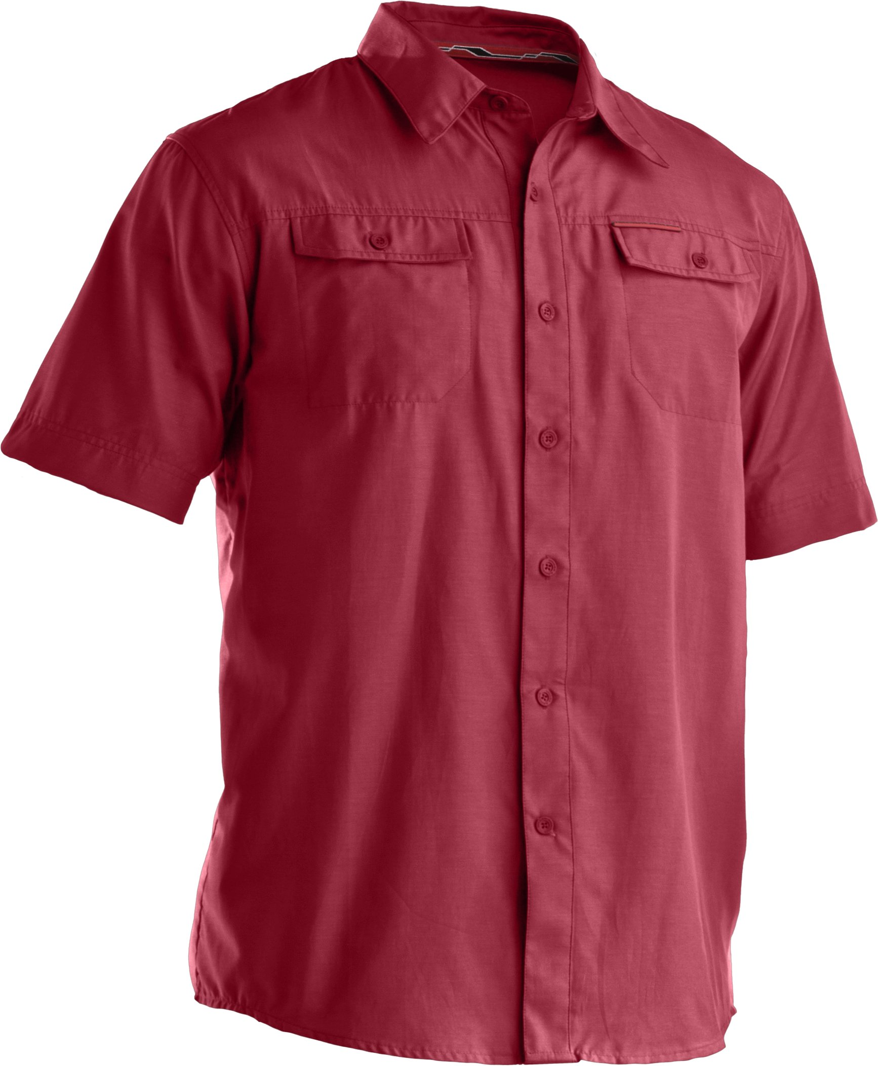 Men's Bocca Solid Short Sleeve Shirt, Crimson