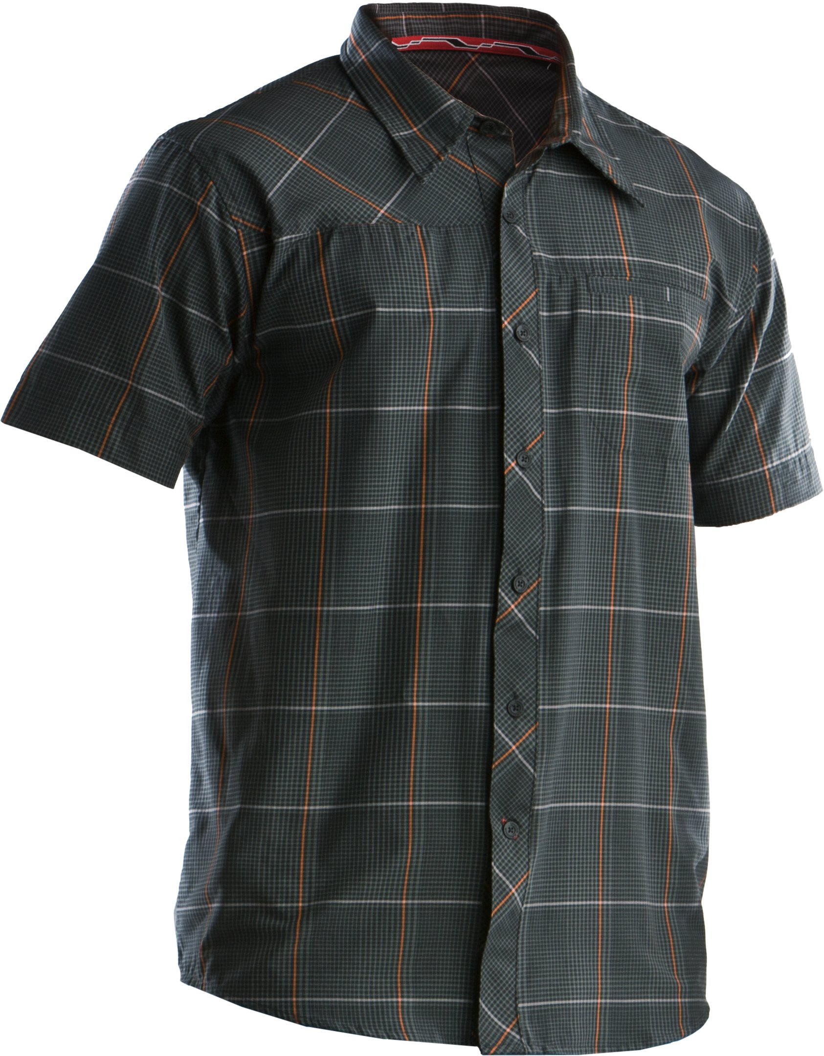Men's Bocca Plaid Short Sleeve, Black , undefined