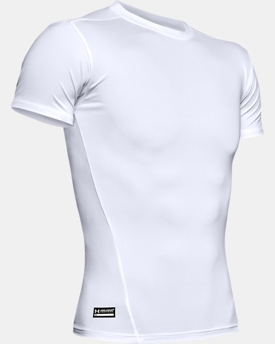 Men's Tactical HeatGear® Compression Short Sleeve T-Shirt, White, pdpMainDesktop image number 8