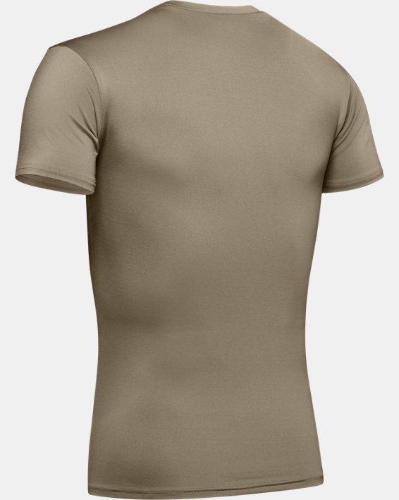 T-shirt a manica corta Tactical HeatGear® Compression da uomo, Brown, pdpMainDesktop image number 7