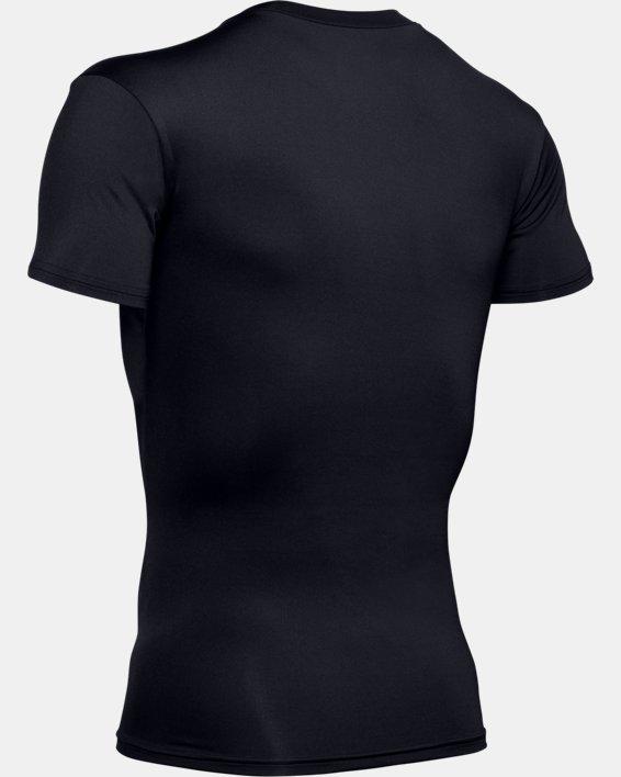 Men's Tactical HeatGear® Compression V-Neck T-Shirt, Black, pdpMainDesktop image number 9