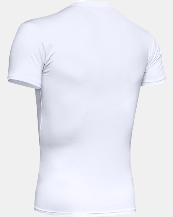 Men's Tactical HeatGear® Compression V-Neck T-Shirt, White, pdpMainDesktop image number 9
