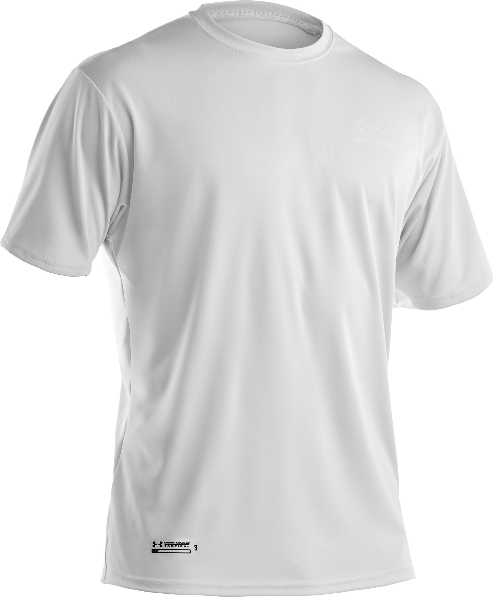 Men's UA HeatGear® Tactical Short Sleeve T-Shirt, White, undefined