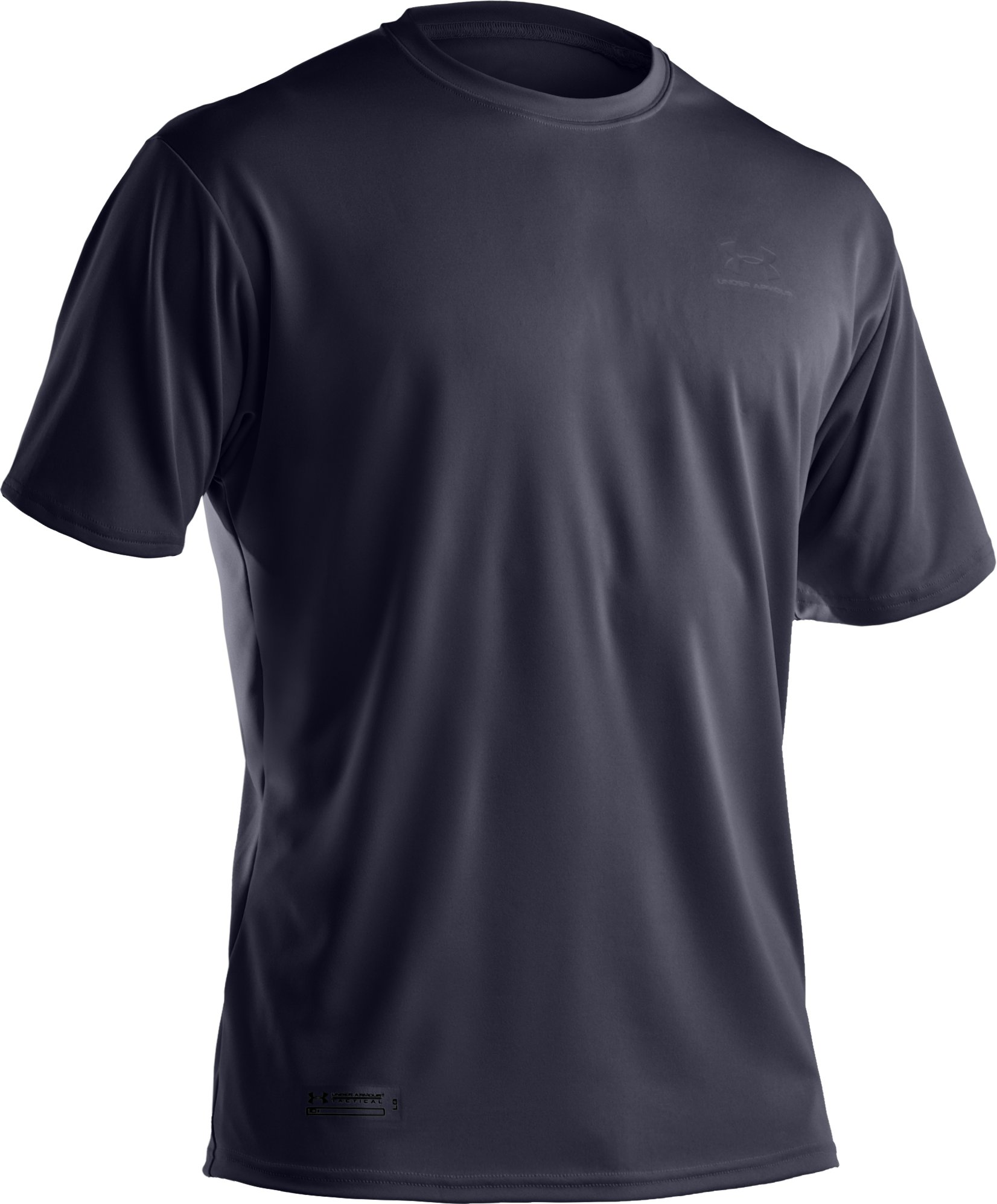Men's UA HeatGear® Tactical Short Sleeve T-Shirt, Dark Navy Blue , undefined