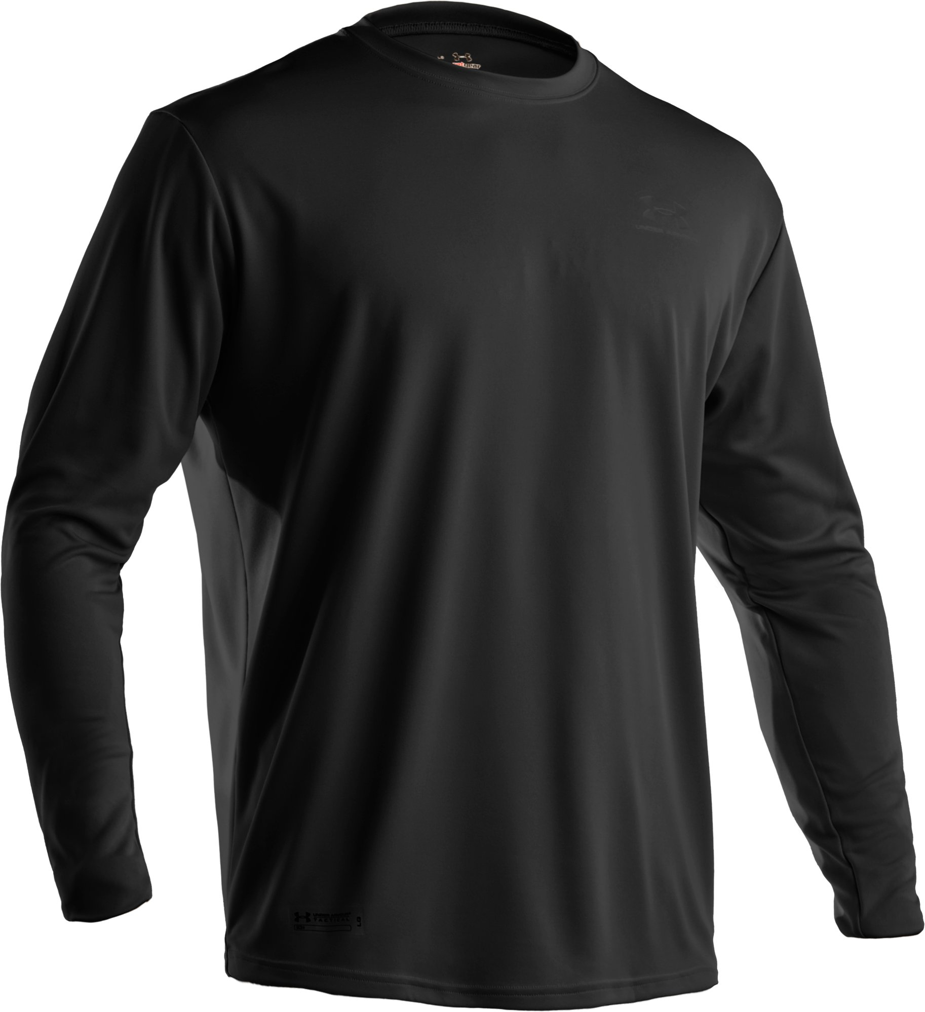 Men's UA HeatGear® Tactical Long Sleeve T-Shirt, Black , undefined