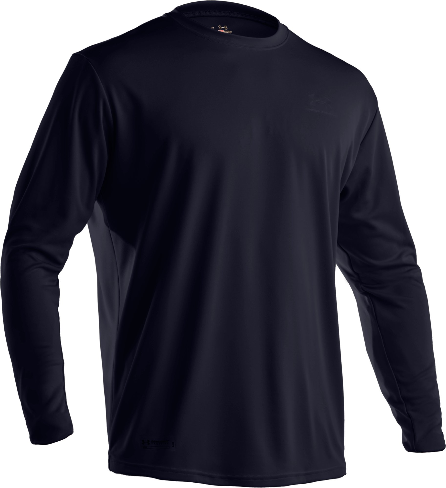 Men's UA HeatGear® Tactical Long Sleeve T-Shirt, Dark Navy Blue , undefined