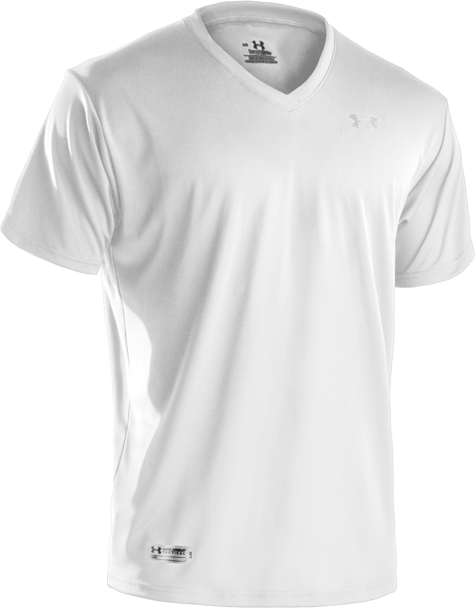 Men's UA HeatGear® Tactical V-Neck T-Shirt, White, undefined