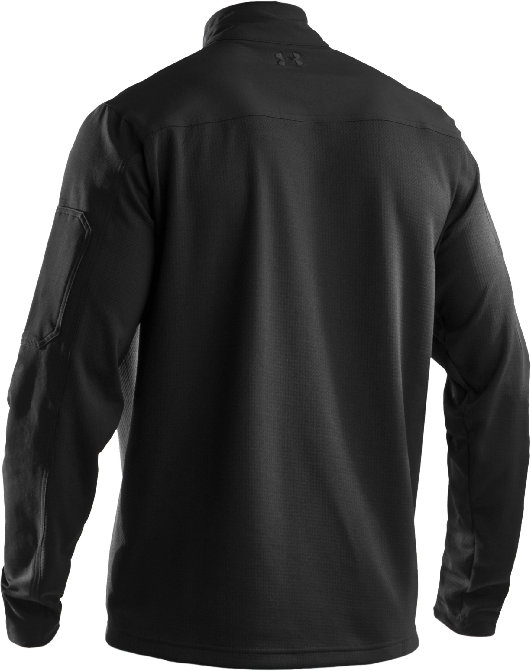 Men's UA Tactical ¼ Zip Jacket, Black