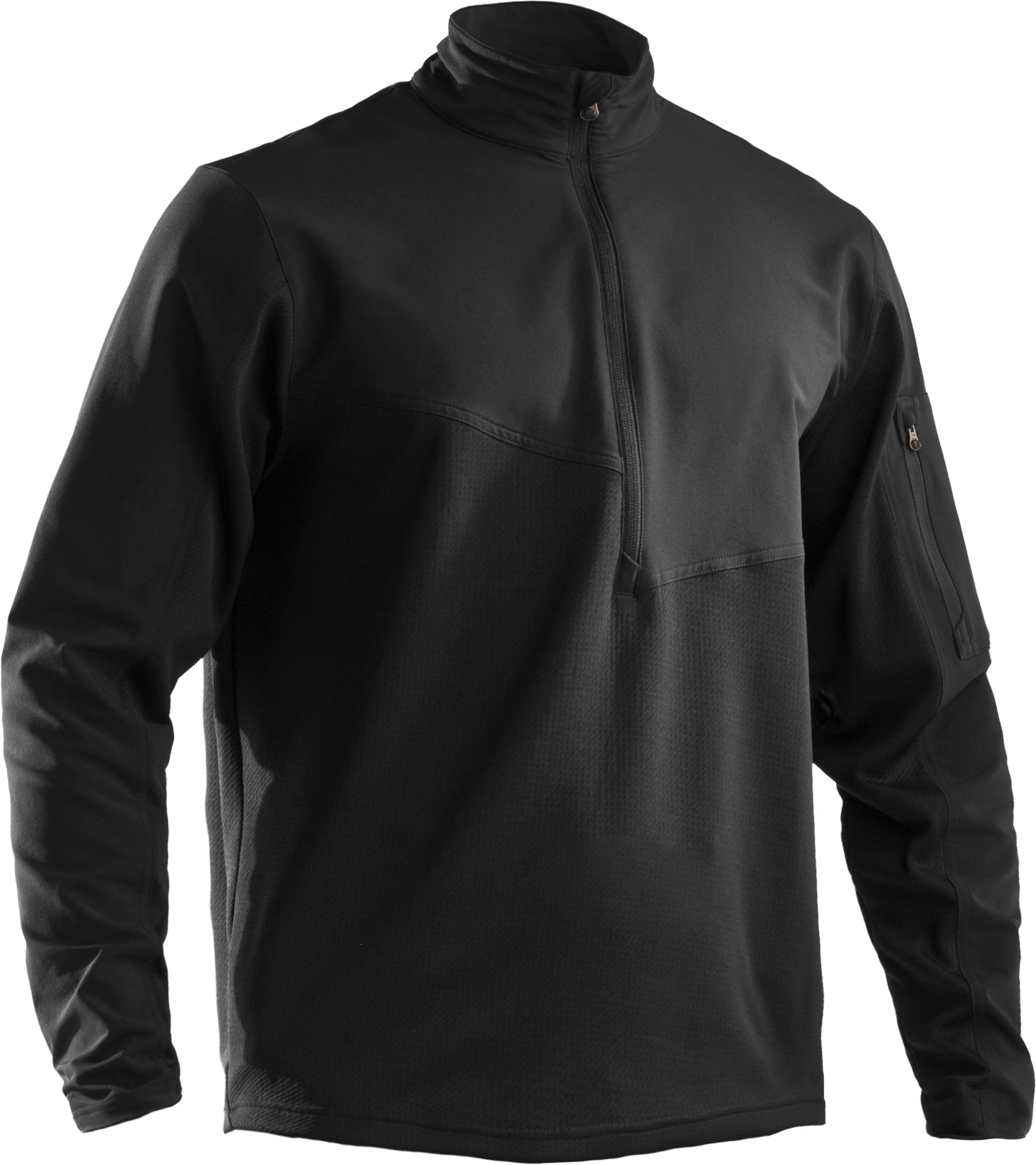 Men's UA Tactical ¼ Zip Jacket, Black , undefined