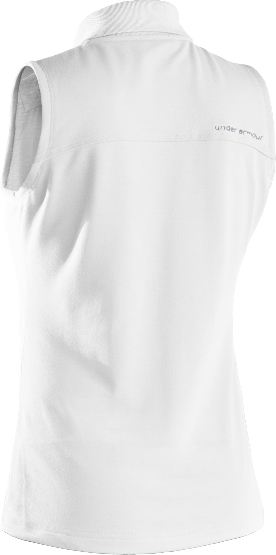 Women's Core Solid Sleeveless Golf Polo, White