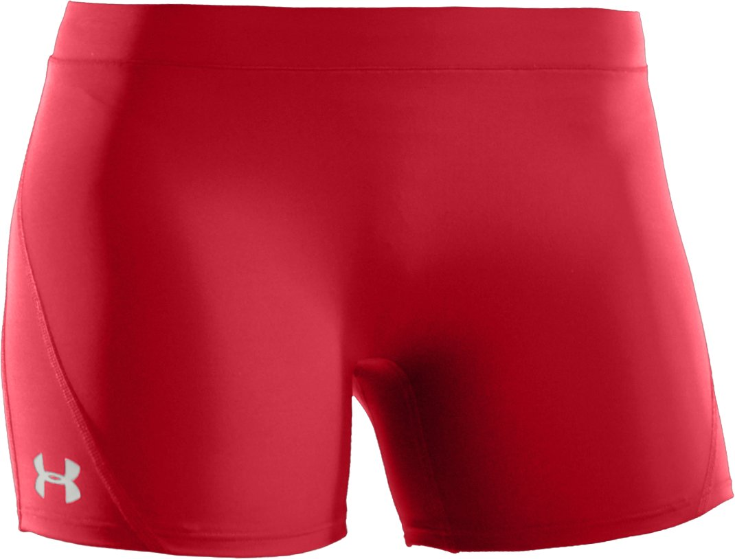 "Women's UA Ultra 4"" Compression Shorts, Red, undefined"