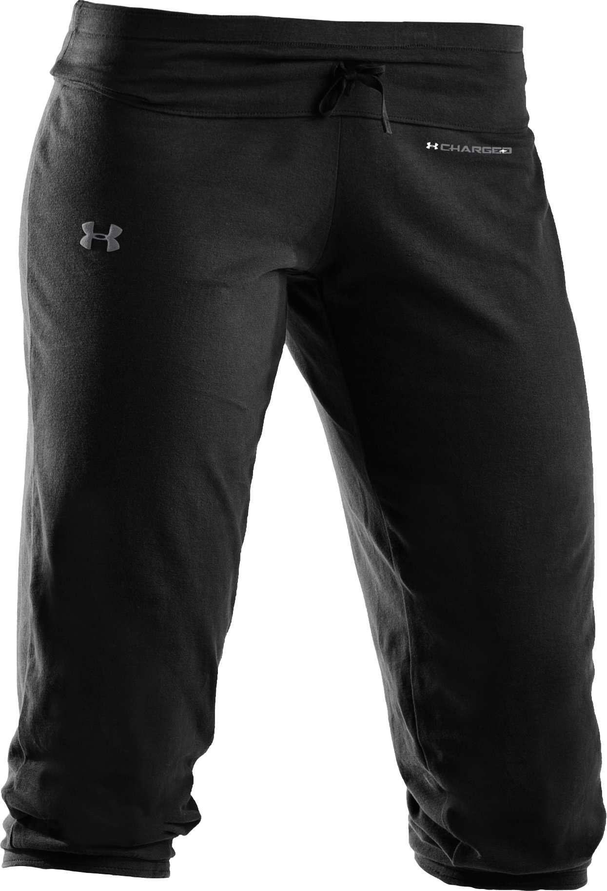 Women's UA Charged Cotton® Capri Pants, Black ,