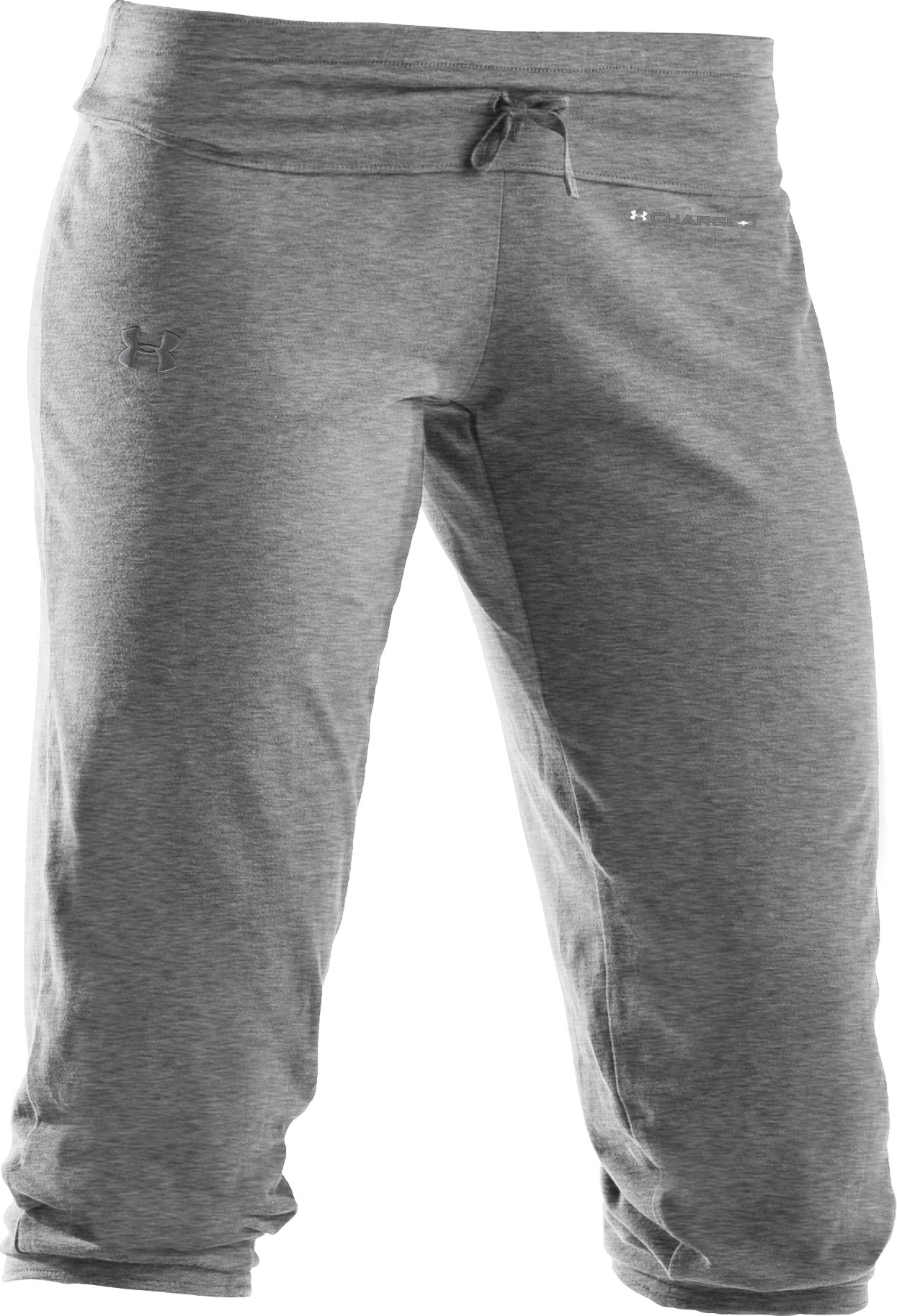 Women's UA Charged Cotton® Capri Pants, True Gray Heather