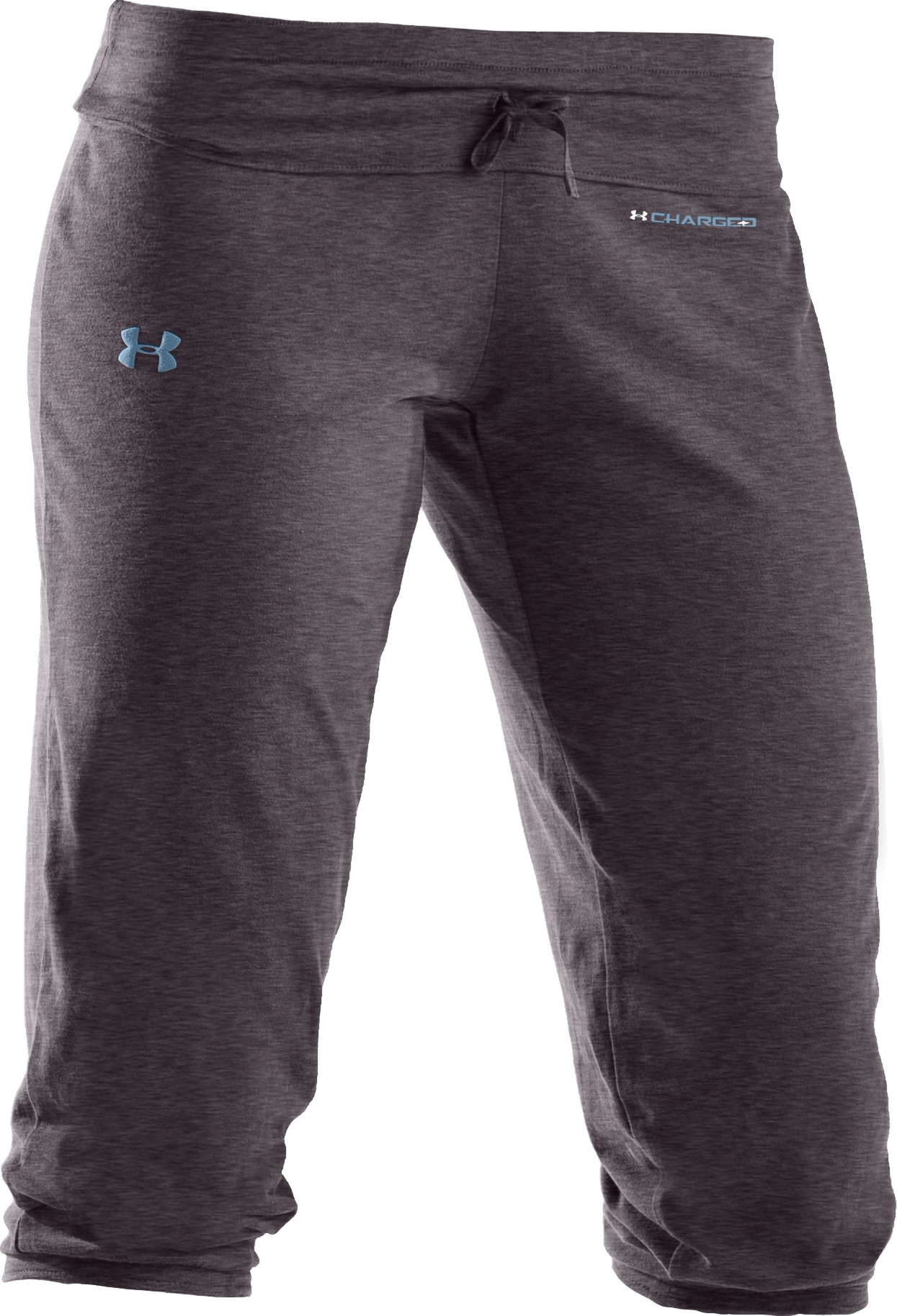 Women's UA Charged Cotton® Capri Pants, Carbon Heather,