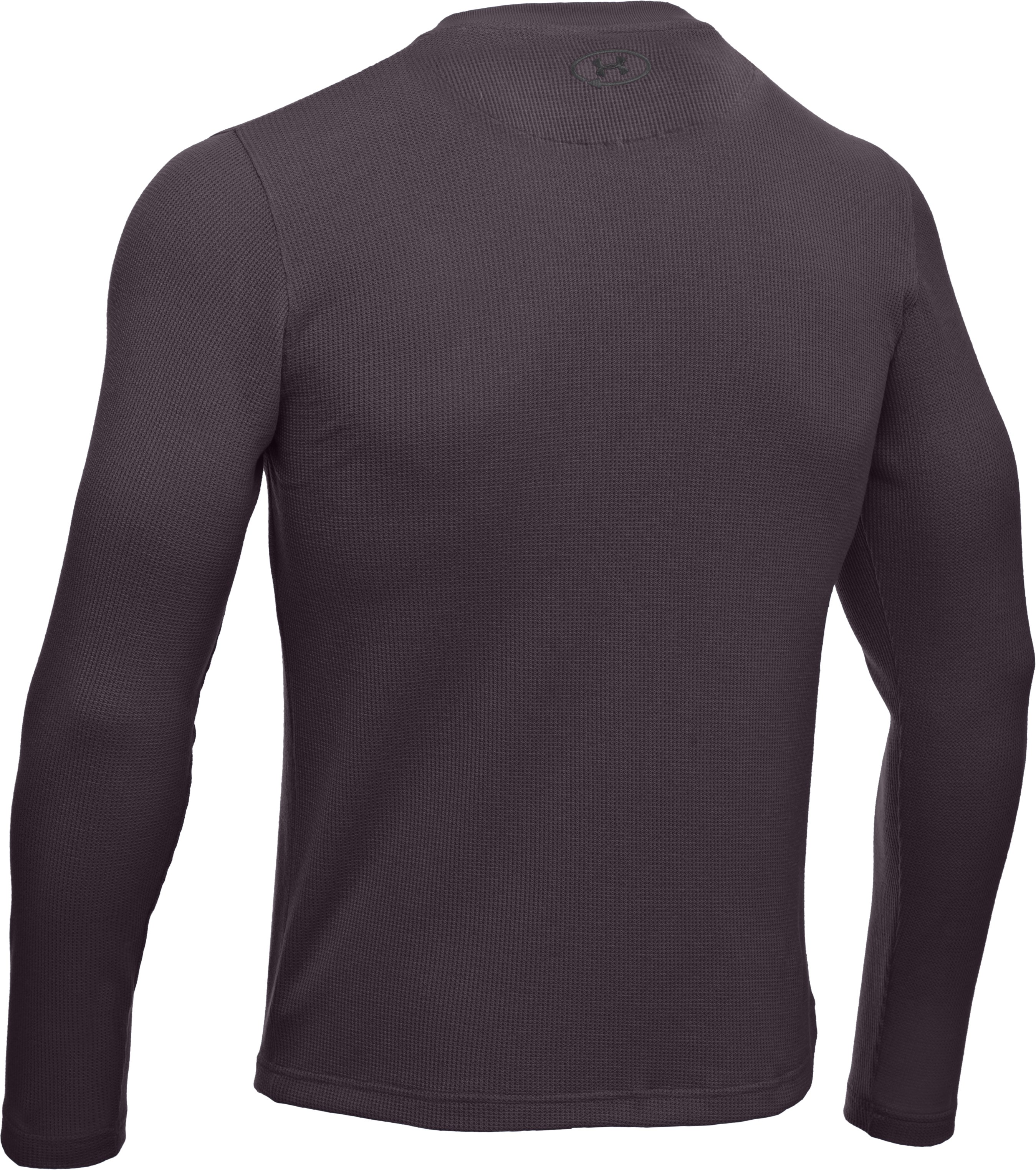 Men's Long Sleeve Waffle Crew, Charcoal,