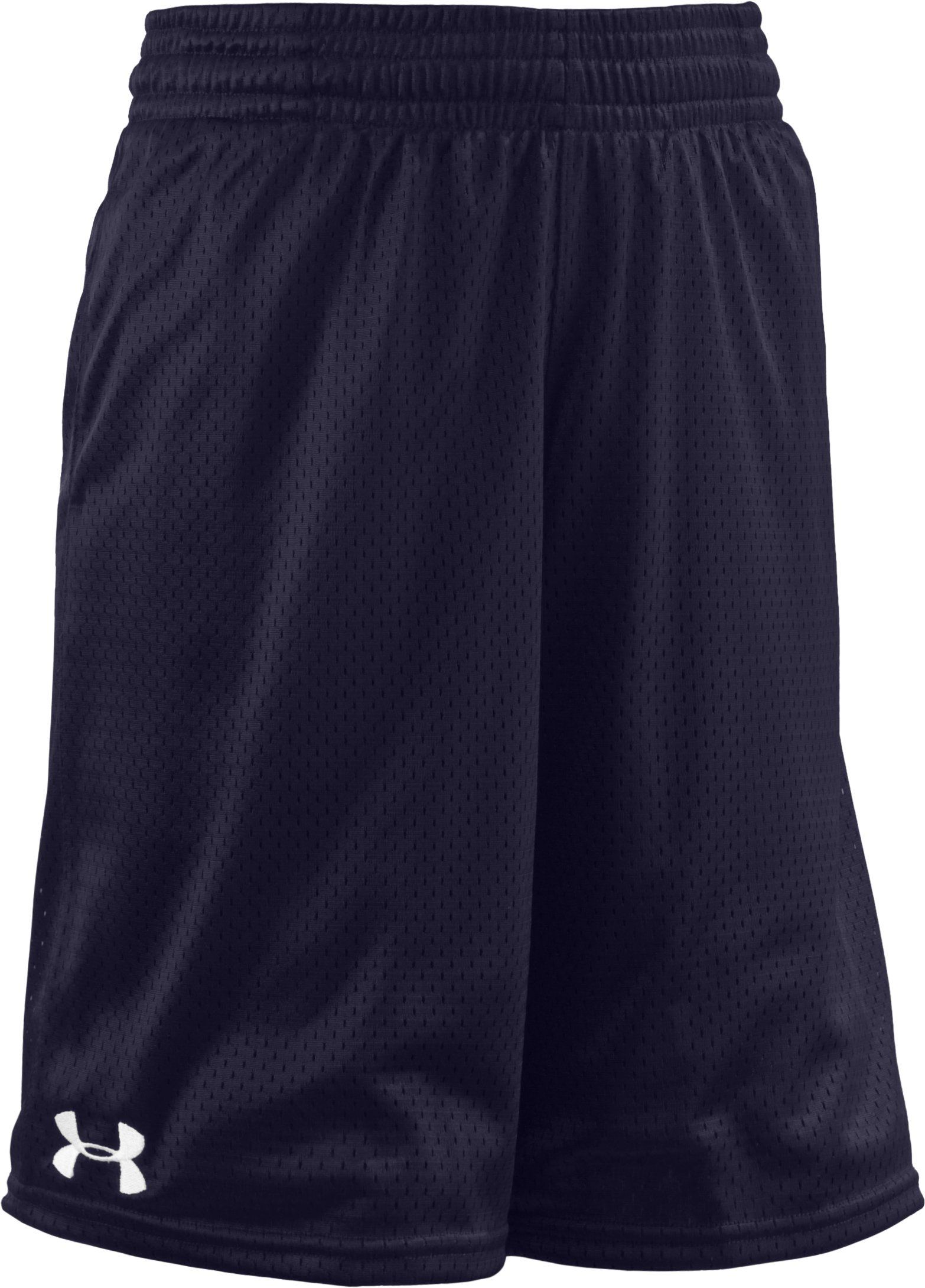 Boys' UA Dominate Mesh Shorts, Midnight Navy, zoomed image