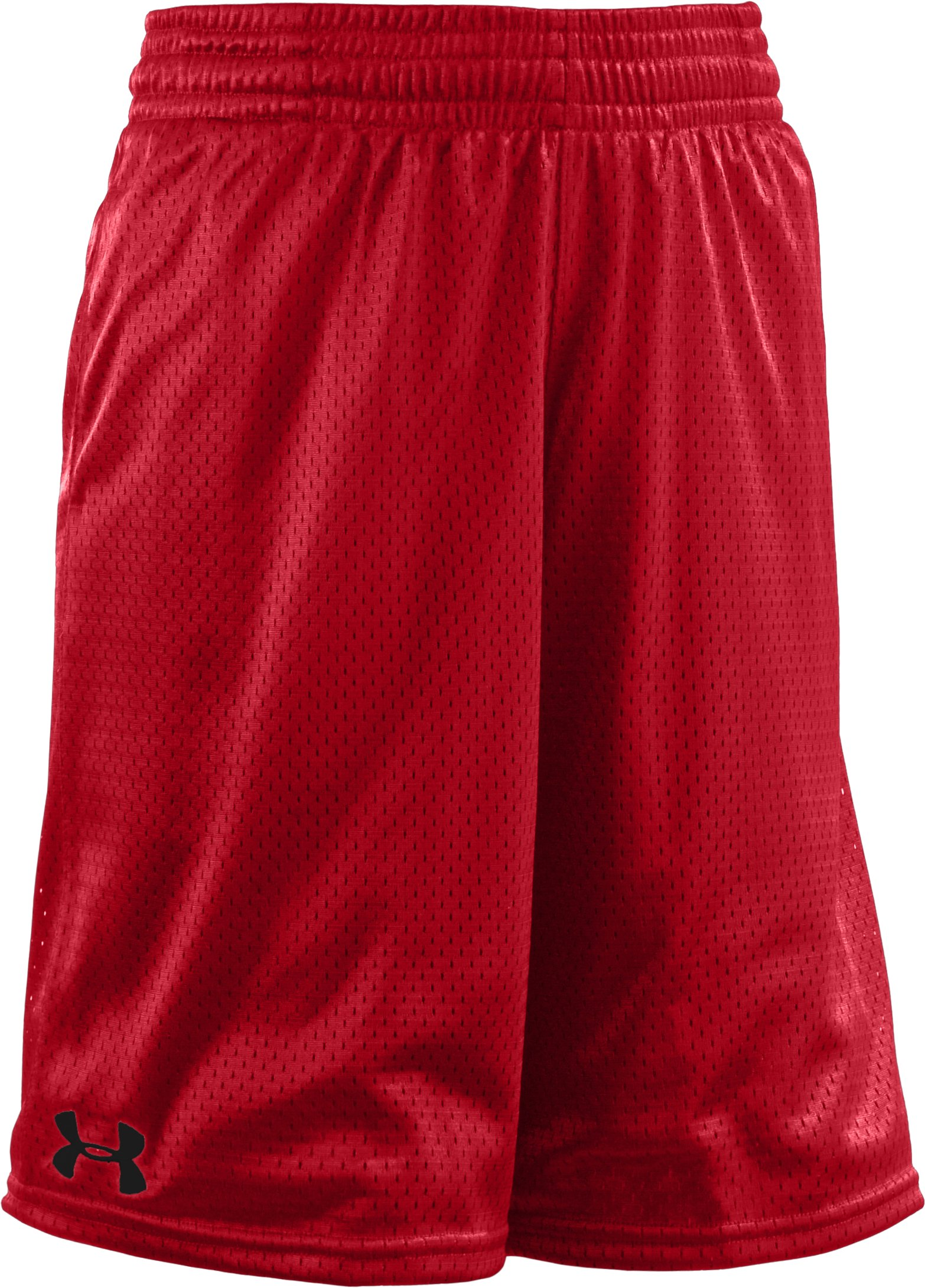 Boys' UA Dominate Mesh Shorts, Red