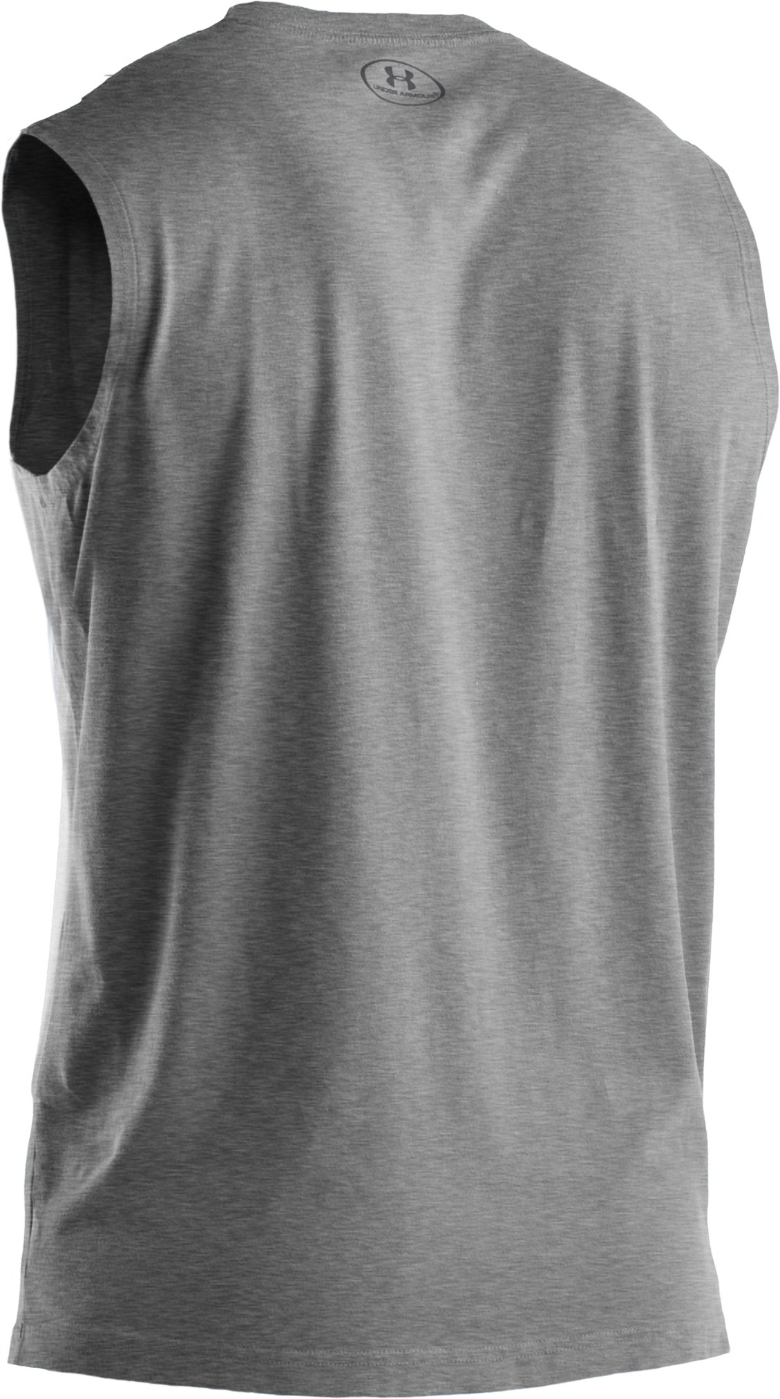 Men's Charged Cotton® Sleeveless T-shirt, True Gray Heather