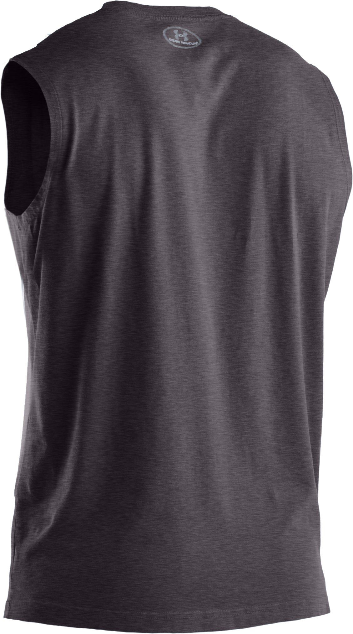 Men's Charged Cotton® Sleeveless T-shirt, Carbon Heather, undefined