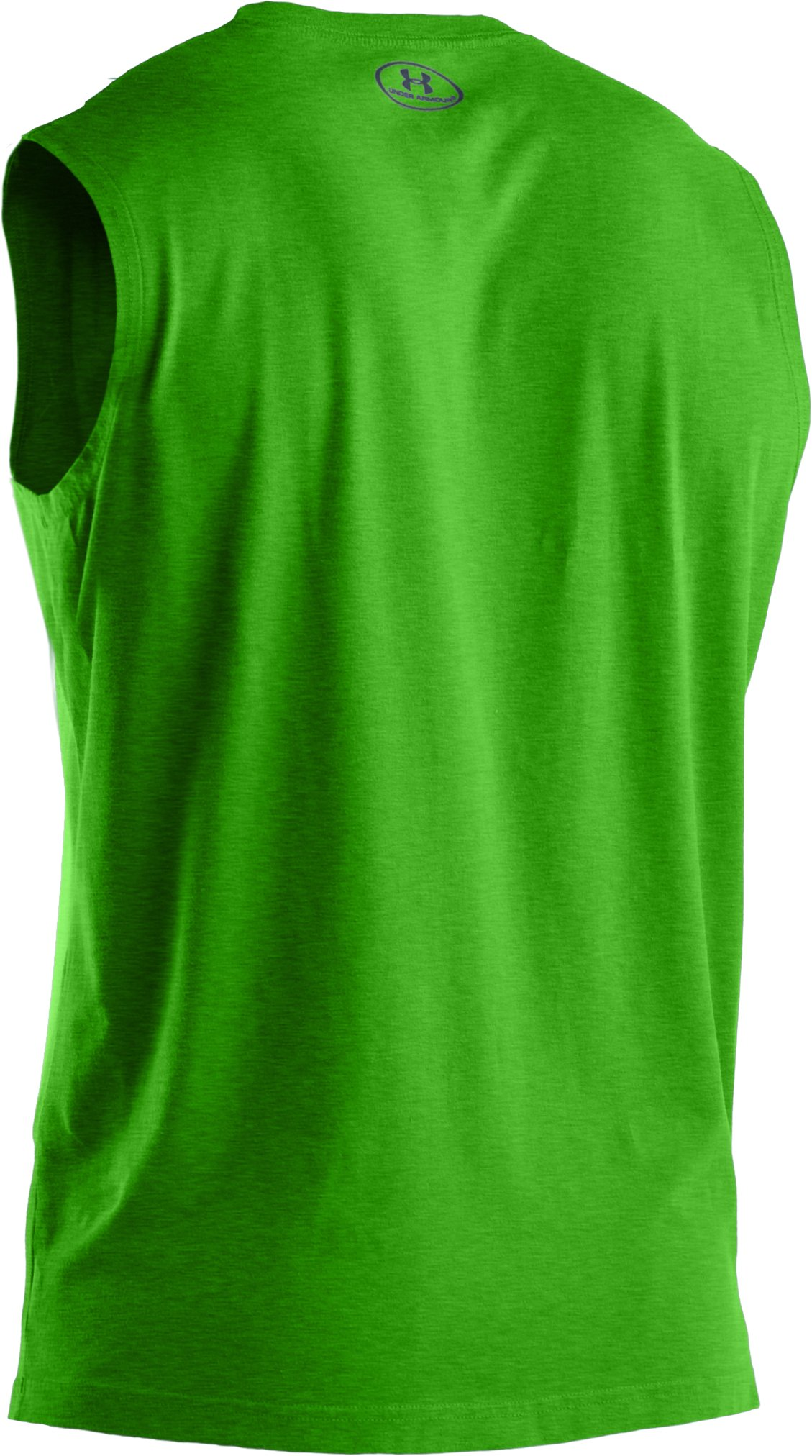 Men's Charged Cotton® Sleeveless T-shirt, PARROT GREEN, undefined