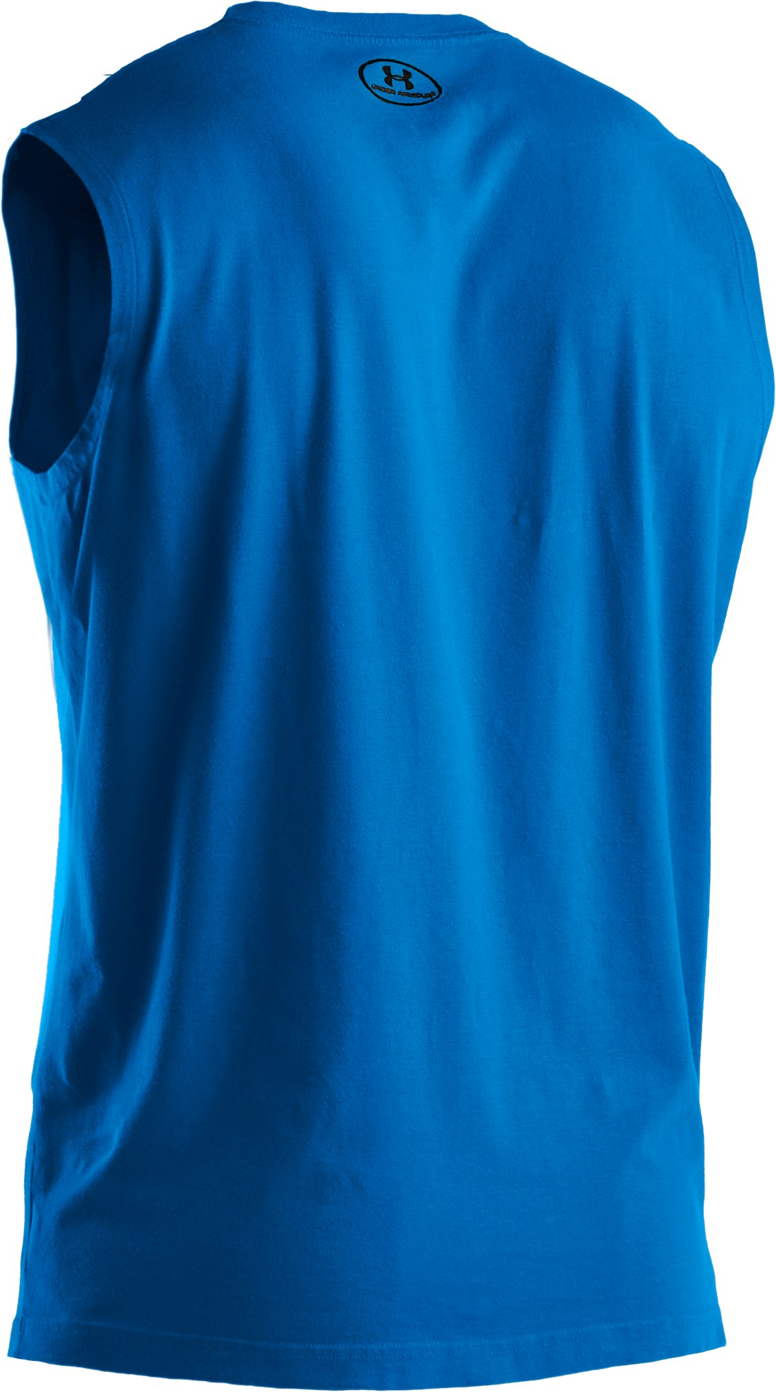 Men's Charged Cotton® Sleeveless T-shirt, ELECTRIC BLUE
