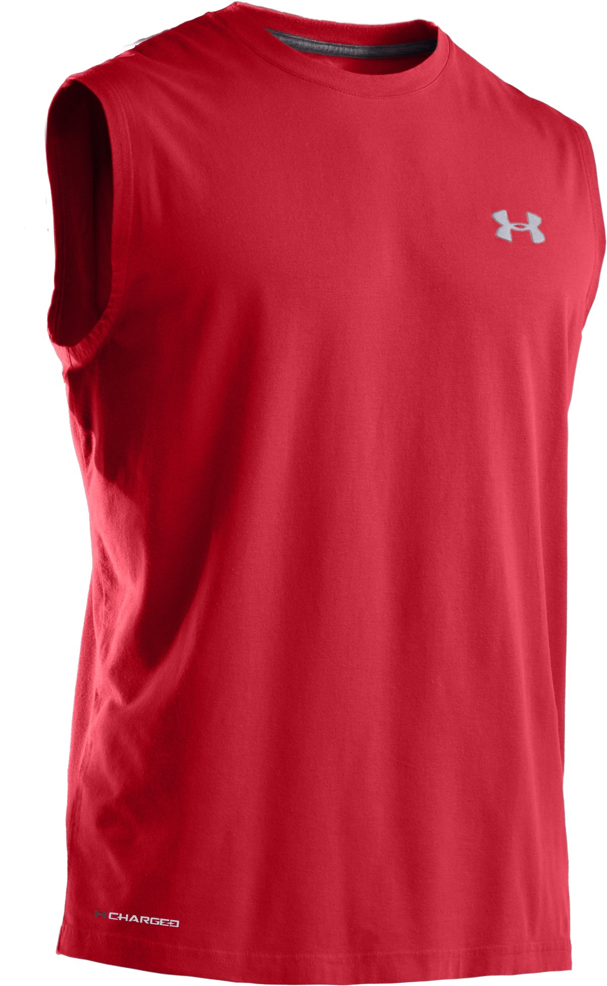 Men's Charged Cotton® Sleeveless T-shirt, Red