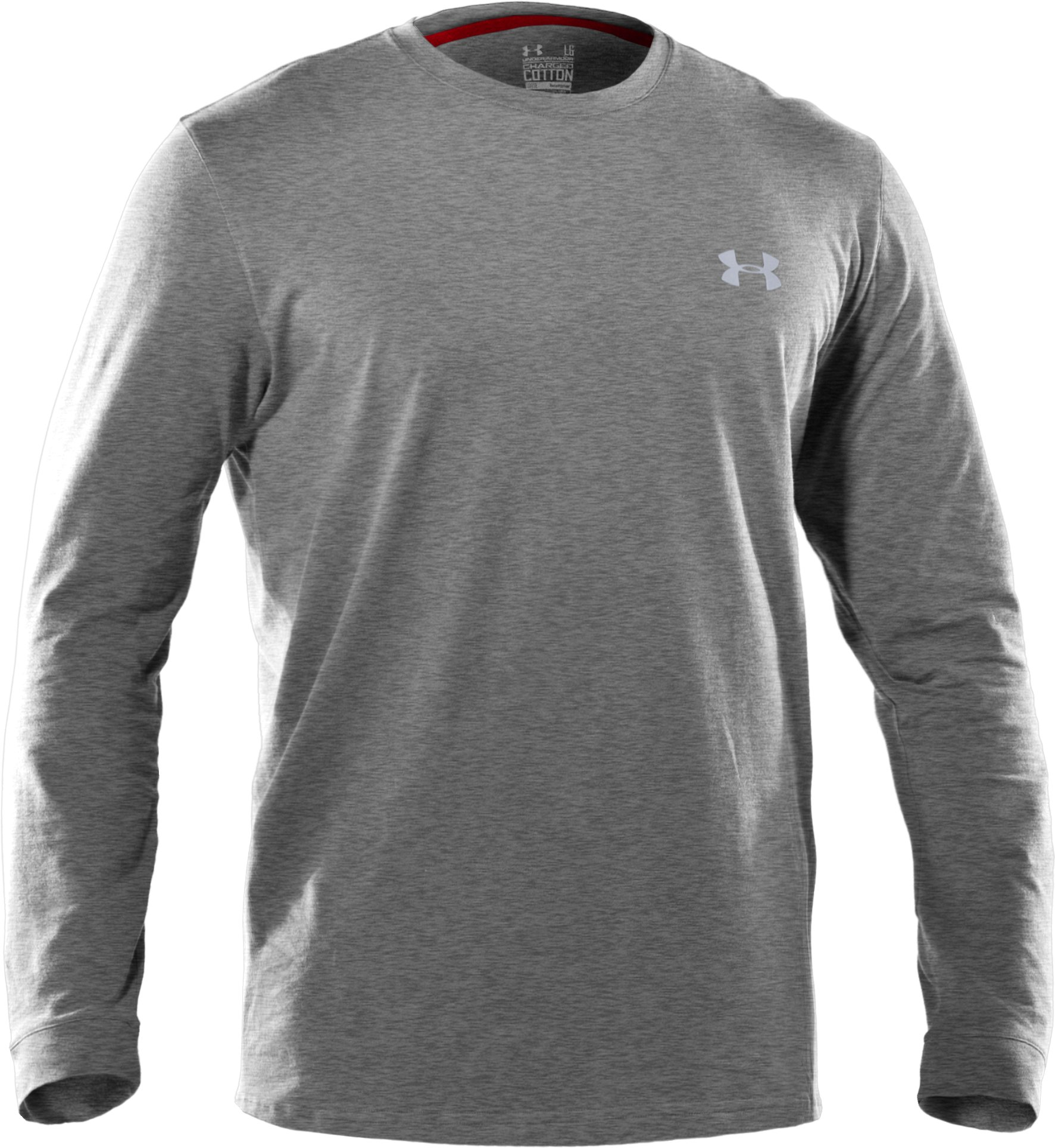 Men's UA Charged Cotton® Long Sleeve T-Shirt, True Gray Heather