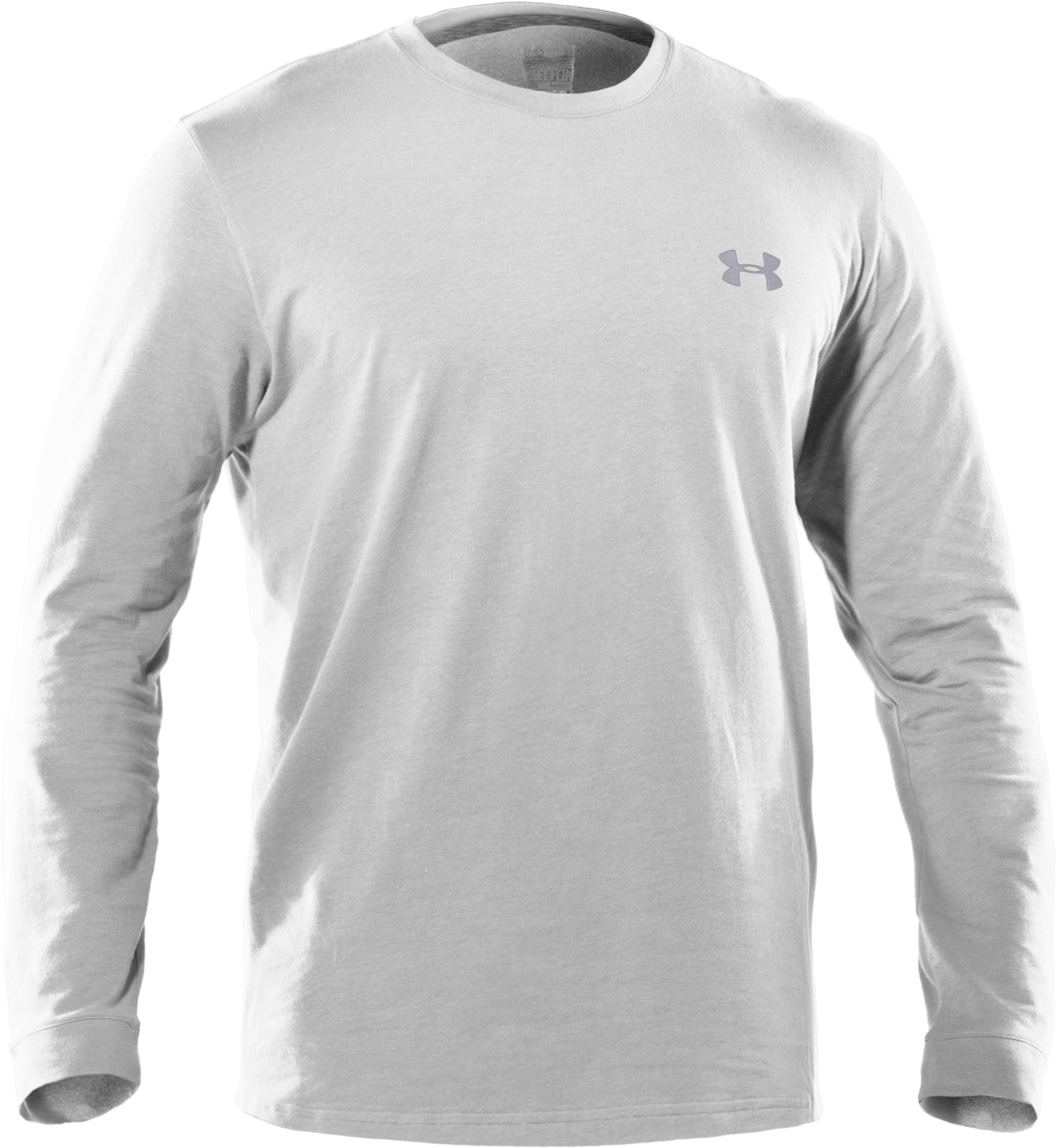 Men's UA Charged Cotton® Long Sleeve T-Shirt, White, undefined