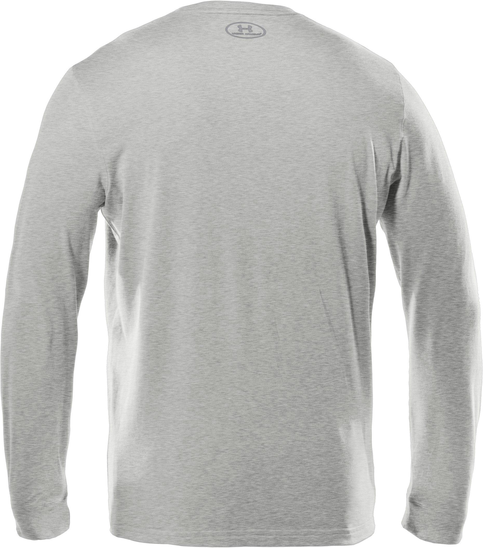 Men's UA Charged Cotton® Long Sleeve T-Shirt, Silver Heather