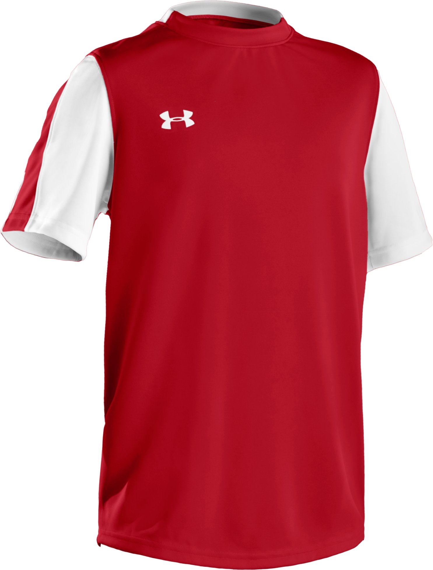 Boys' UA Classic Short Sleeve Jersey, Red, zoomed image