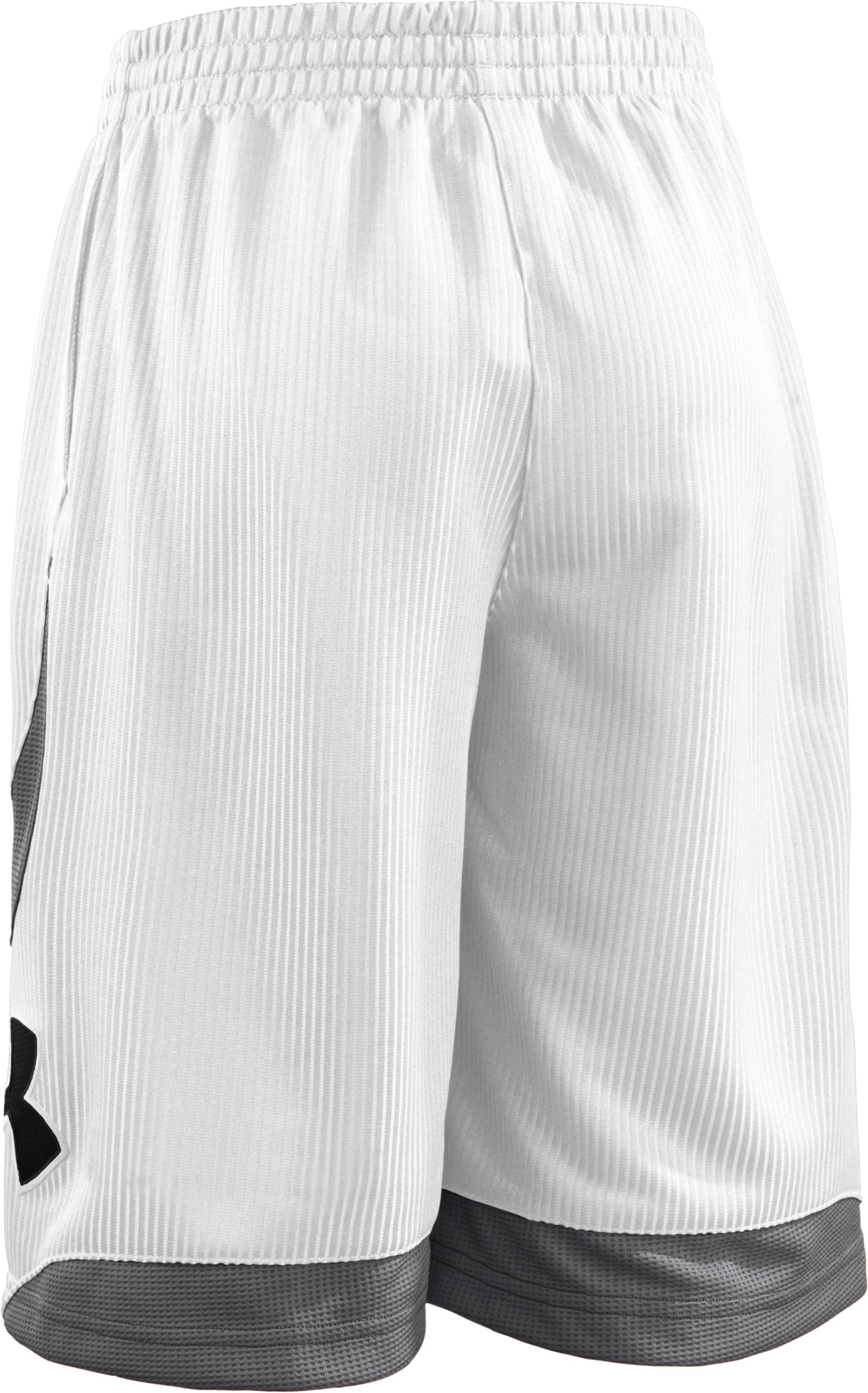 "Boys' Valkyrie 10"" Basketball Shorts, White, undefined"