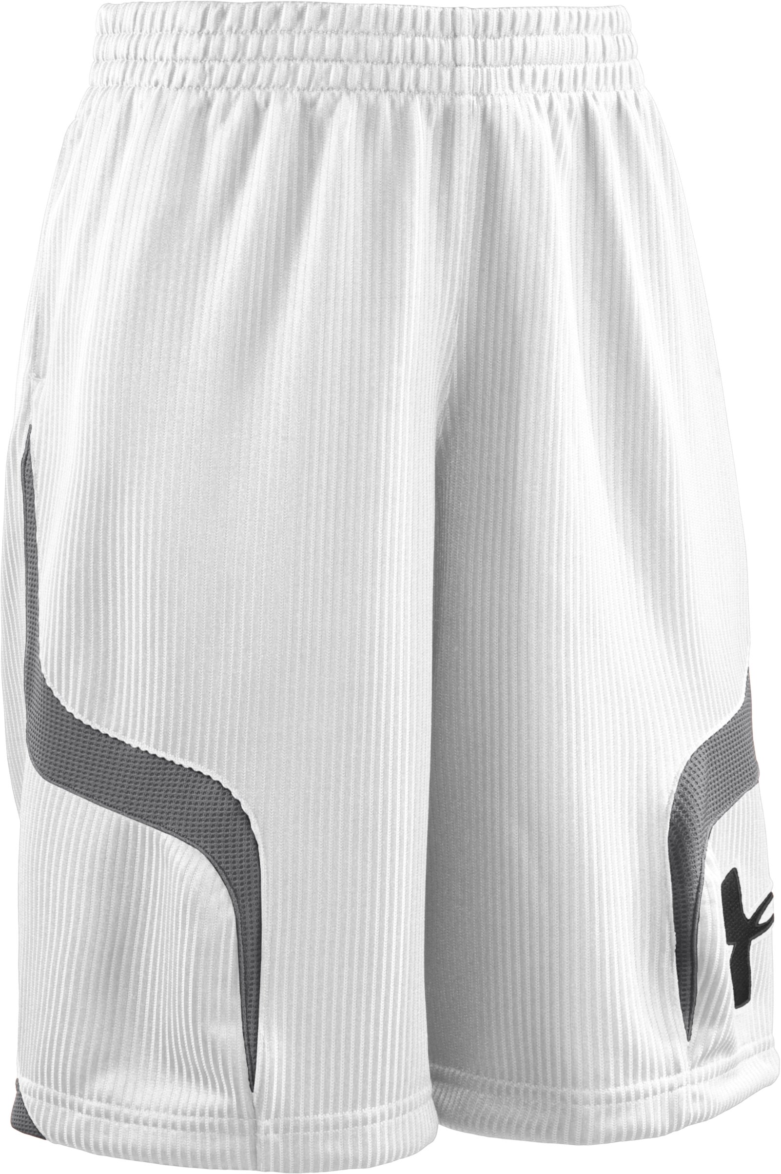 "Boys' Valkyrie 10"" Basketball Shorts, White, zoomed image"
