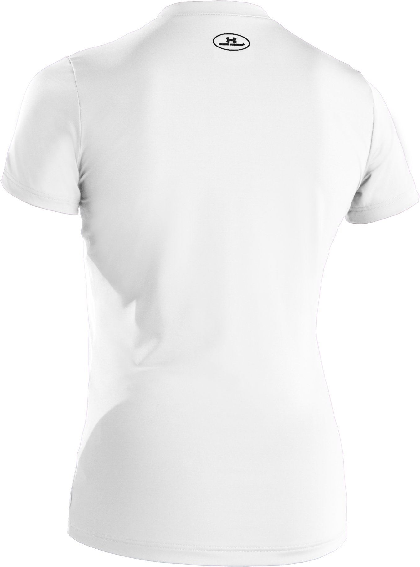 Girls' Fitted HeatGear® Short Sleeve T-Shirt, White