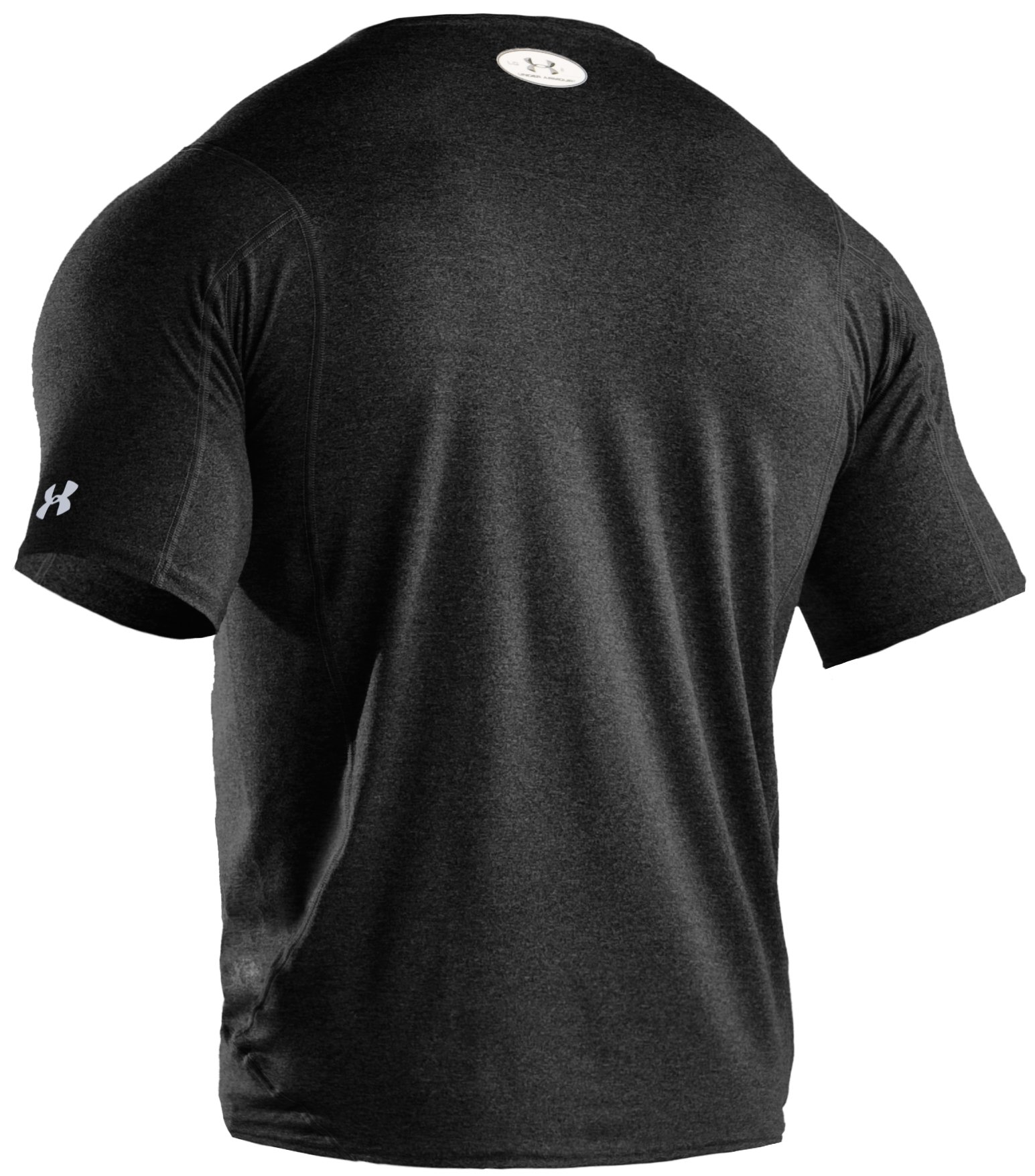 Men's UA HeatGear® Touch Fitted Short Sleeve Crew, Asphalt Heather,