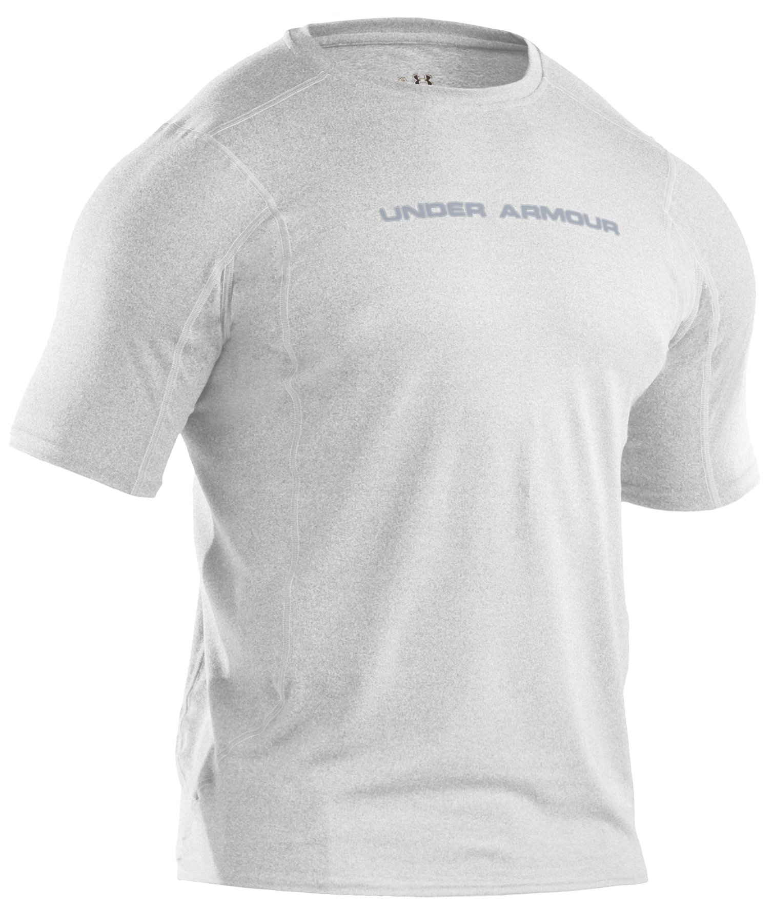 Men's UA HeatGear® Touch Fitted Short Sleeve Crew, White