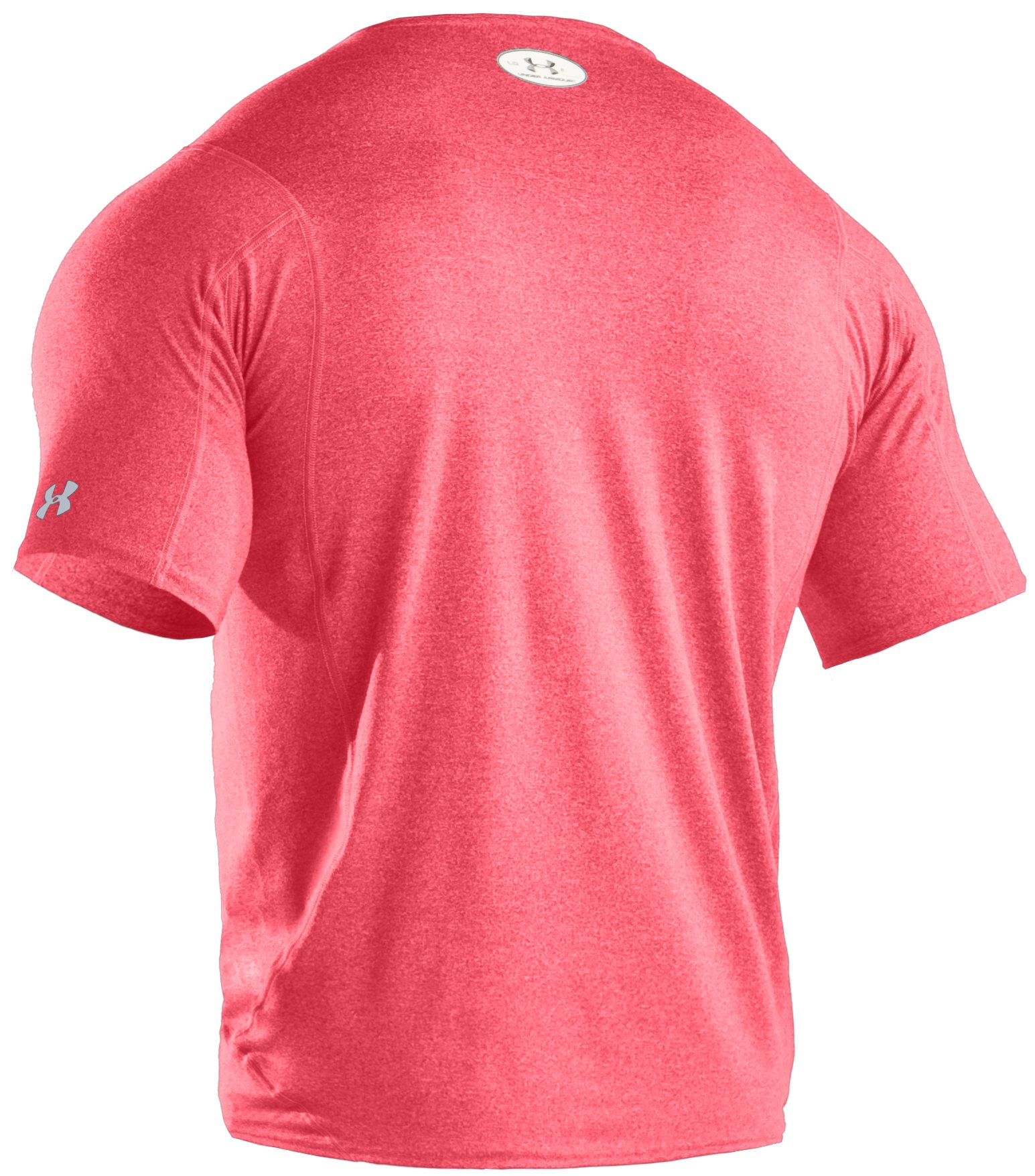 Men's UA HeatGear® Touch Fitted Short Sleeve Crew, Red, undefined