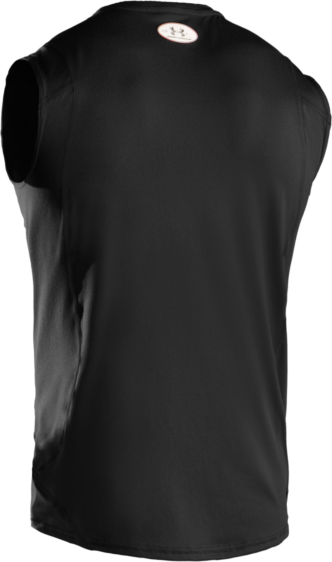 Men's UA HeatGear® Touch Fitted Sleeveless Crew, Black , undefined