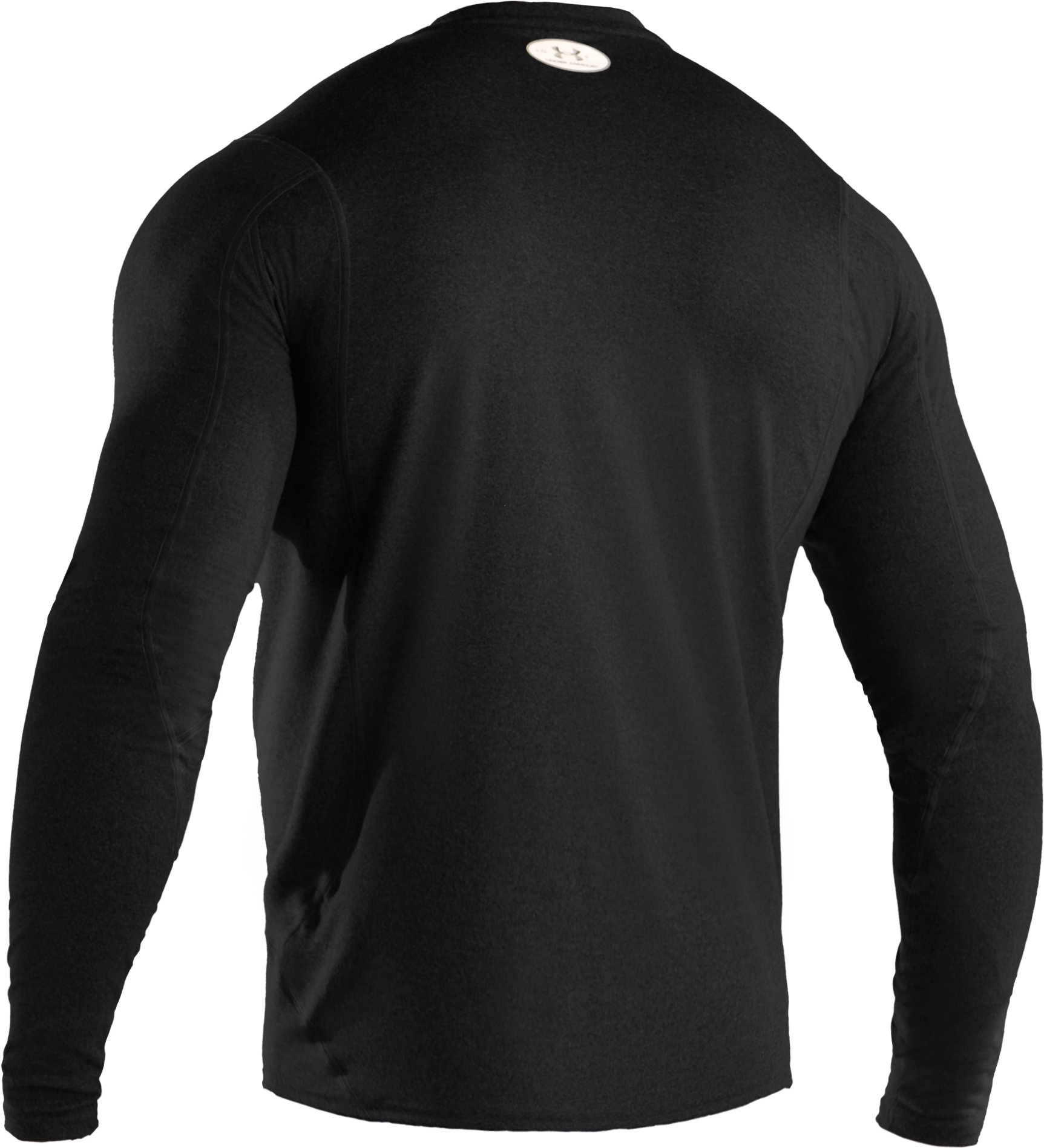 Men's UA HeatGear® Touch Fitted Long Sleeve Crew, Black ,