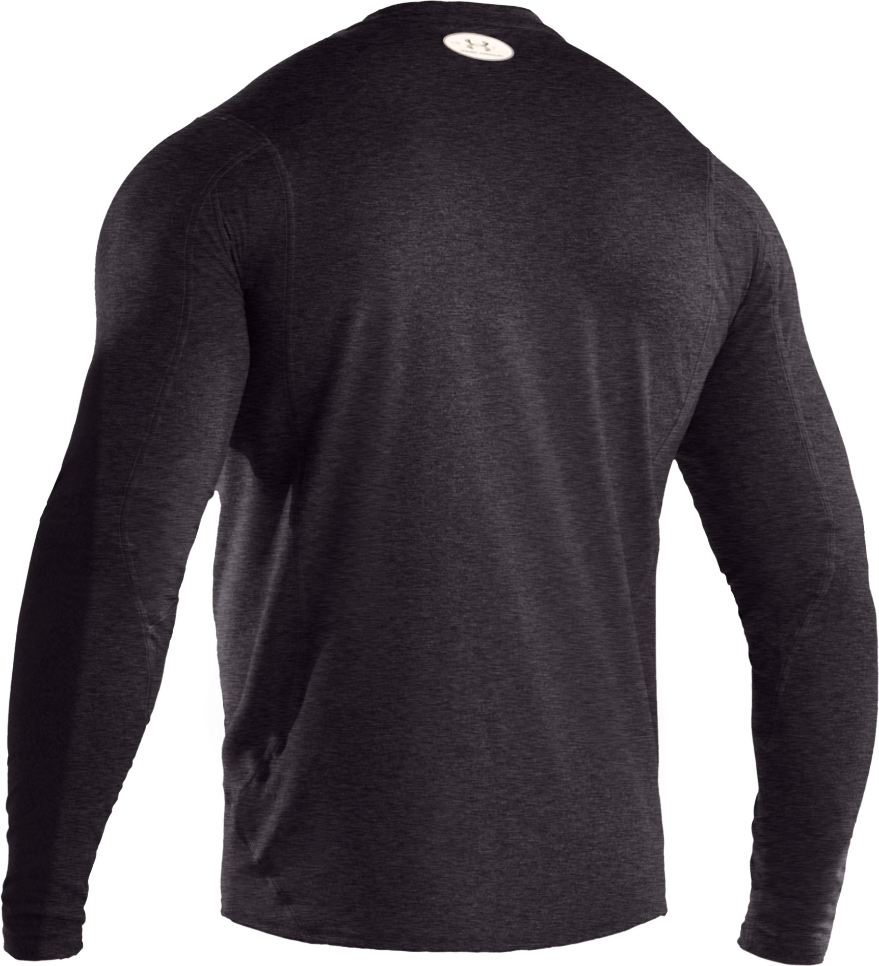 Men's UA HeatGear® Touch Fitted Long Sleeve Crew, Carbon Heather