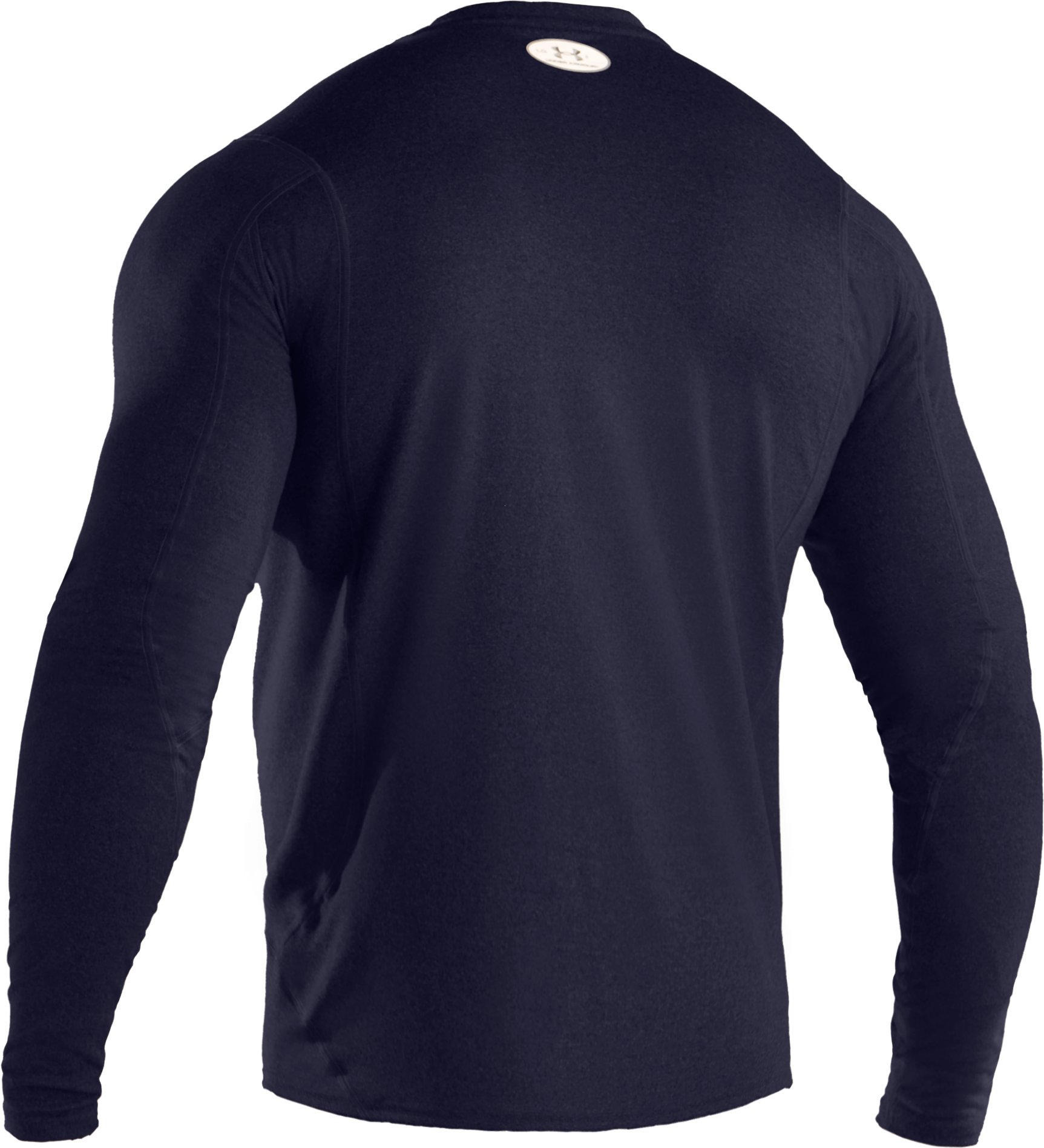 Men's UA HeatGear® Touch Fitted Long Sleeve Crew, Midnight Navy