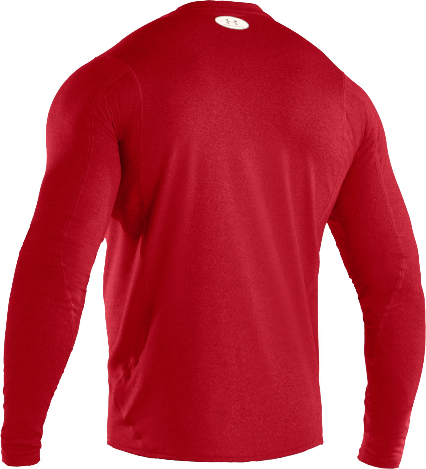 Men's UA HeatGear® Touch Fitted Long Sleeve Crew, Red