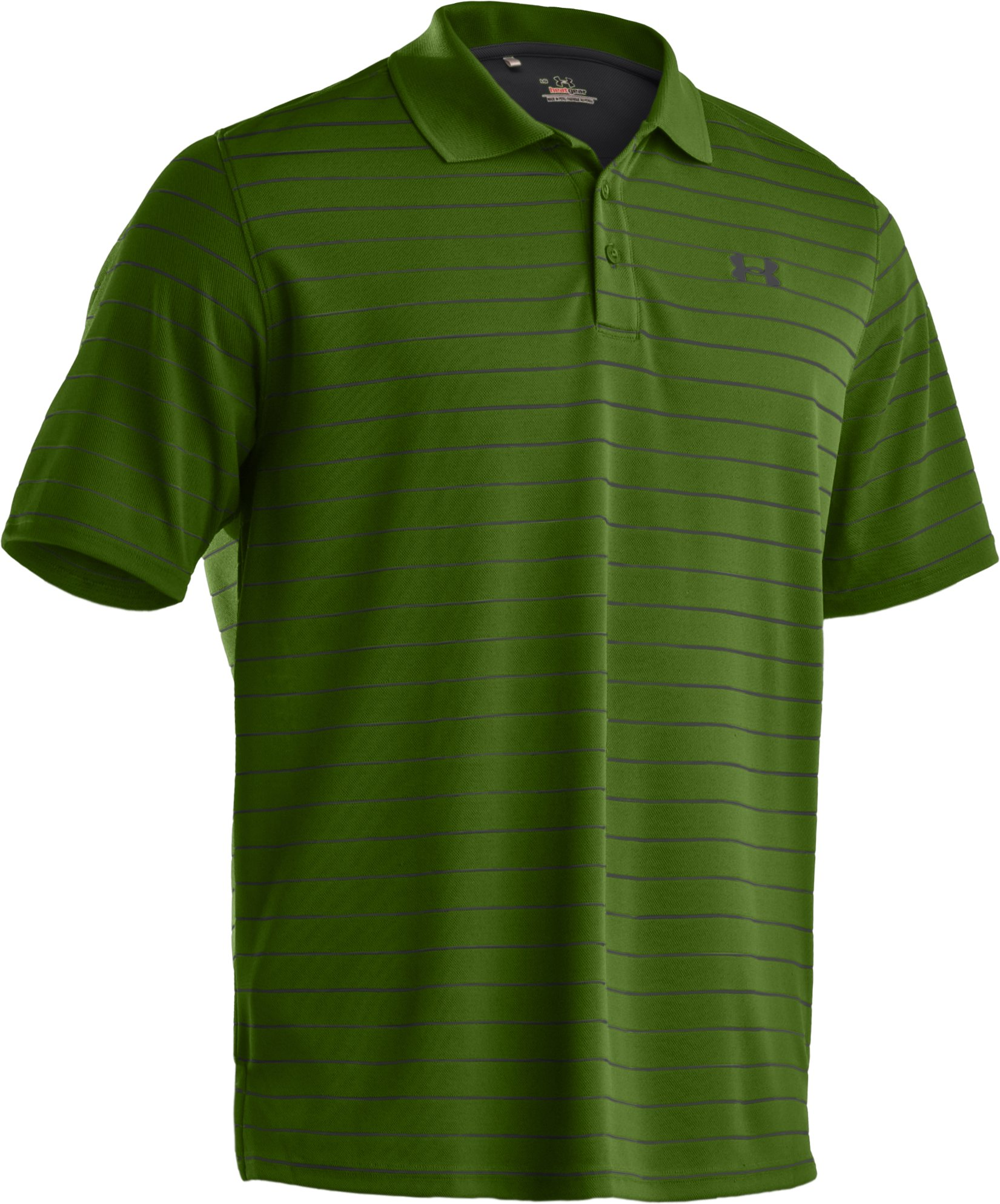Men's UA Draw Striped Short Sleeve Polo, Surge, undefined