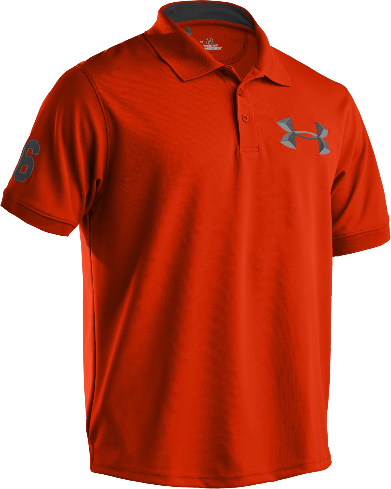 Men's UA Clubhouse Exploded Logo Short Sleeve Polo, Explosive